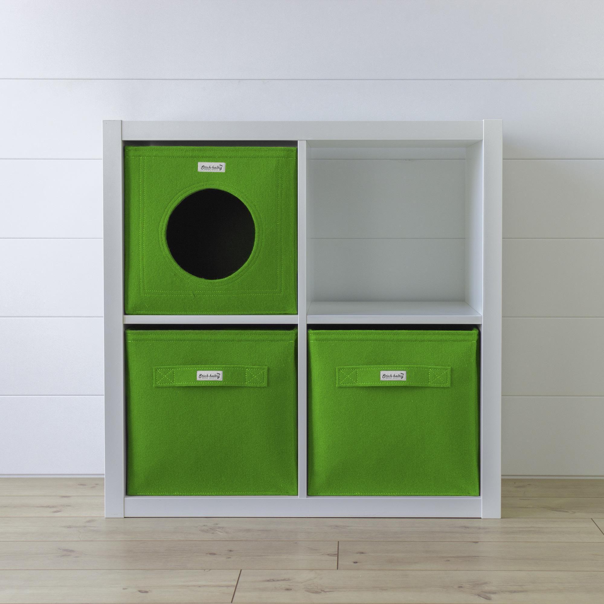 es gr nt so gr n katzenh hle aus kuscheligem filz. Black Bedroom Furniture Sets. Home Design Ideas