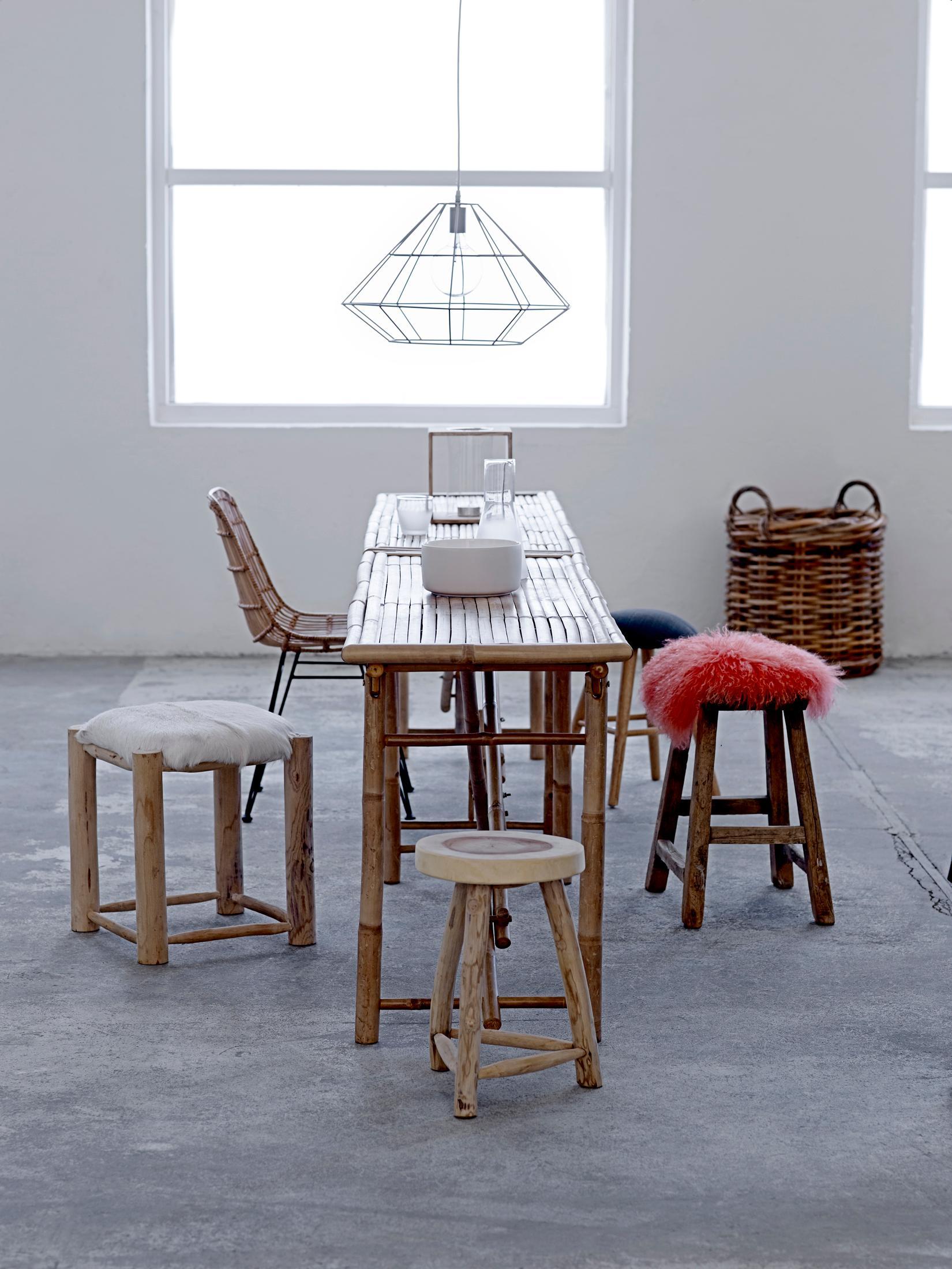 essbereich mit möbeln aus holz und bambus #stuhl #ba