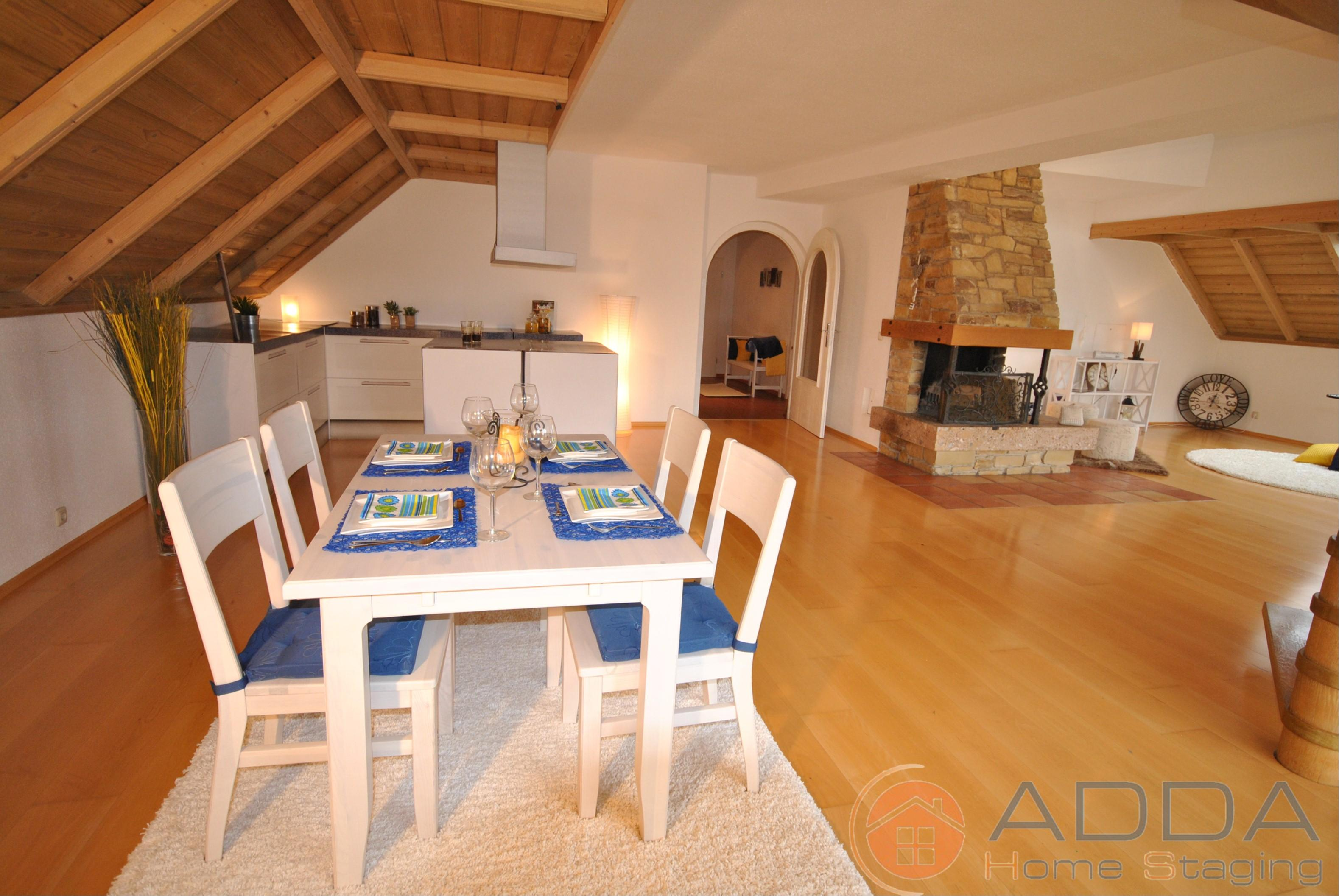 Essbereich nach dem Home Staging #offeneküche ©ADDA Home Staging