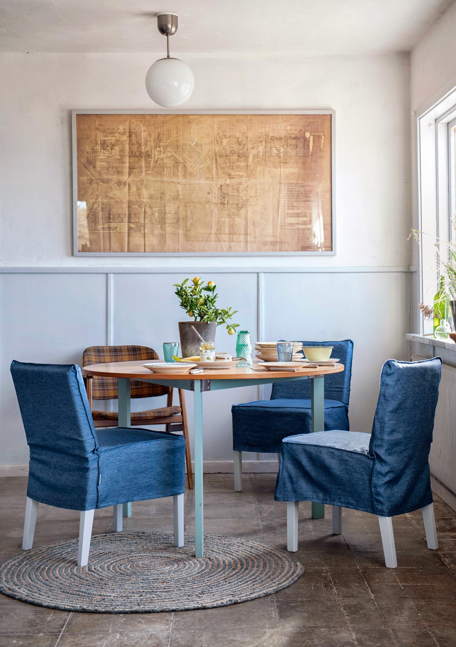 Esszimmer Im Skandinavischen Stil Stuhl Teppich R