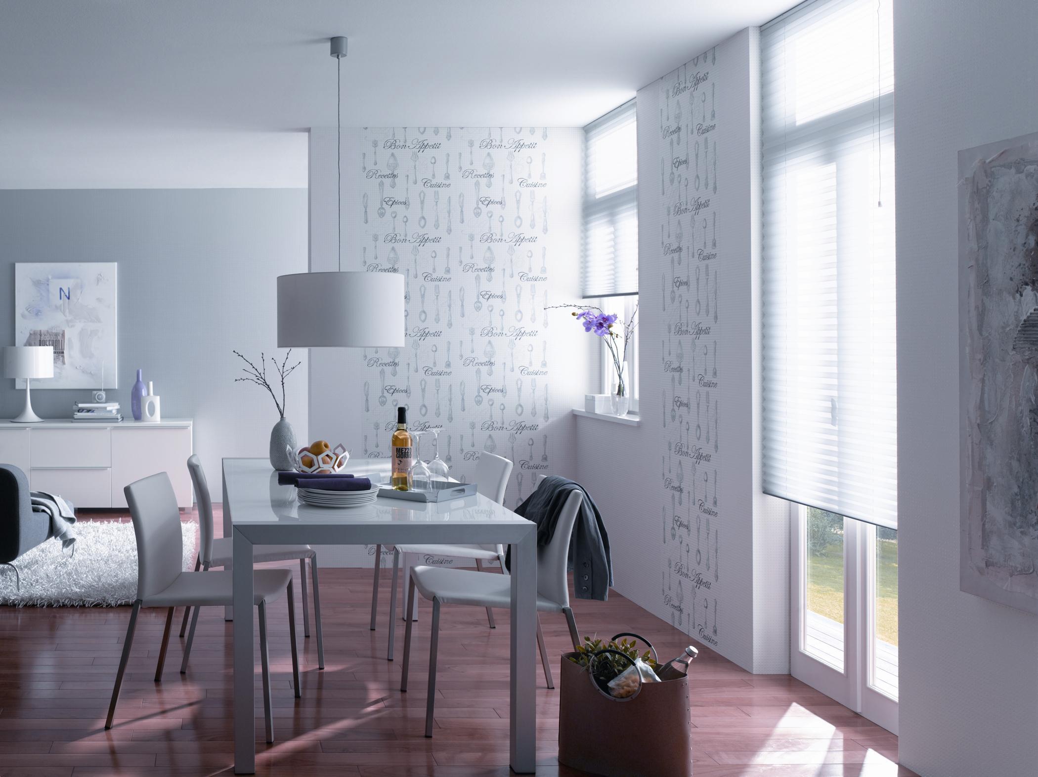Esszimmer In Weiss Und Grau Esstisch Wandgestaltung