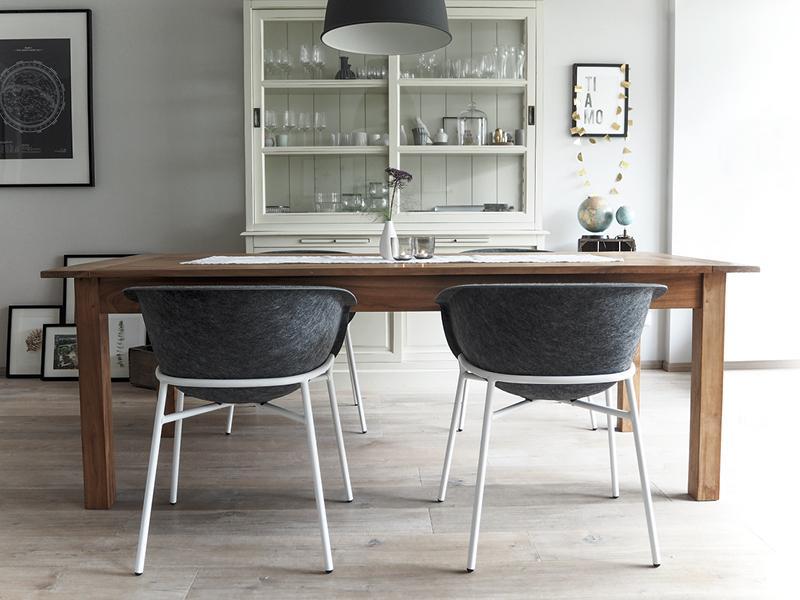 #Esszimmer #weiß #grau #Holz #Reihenhaus