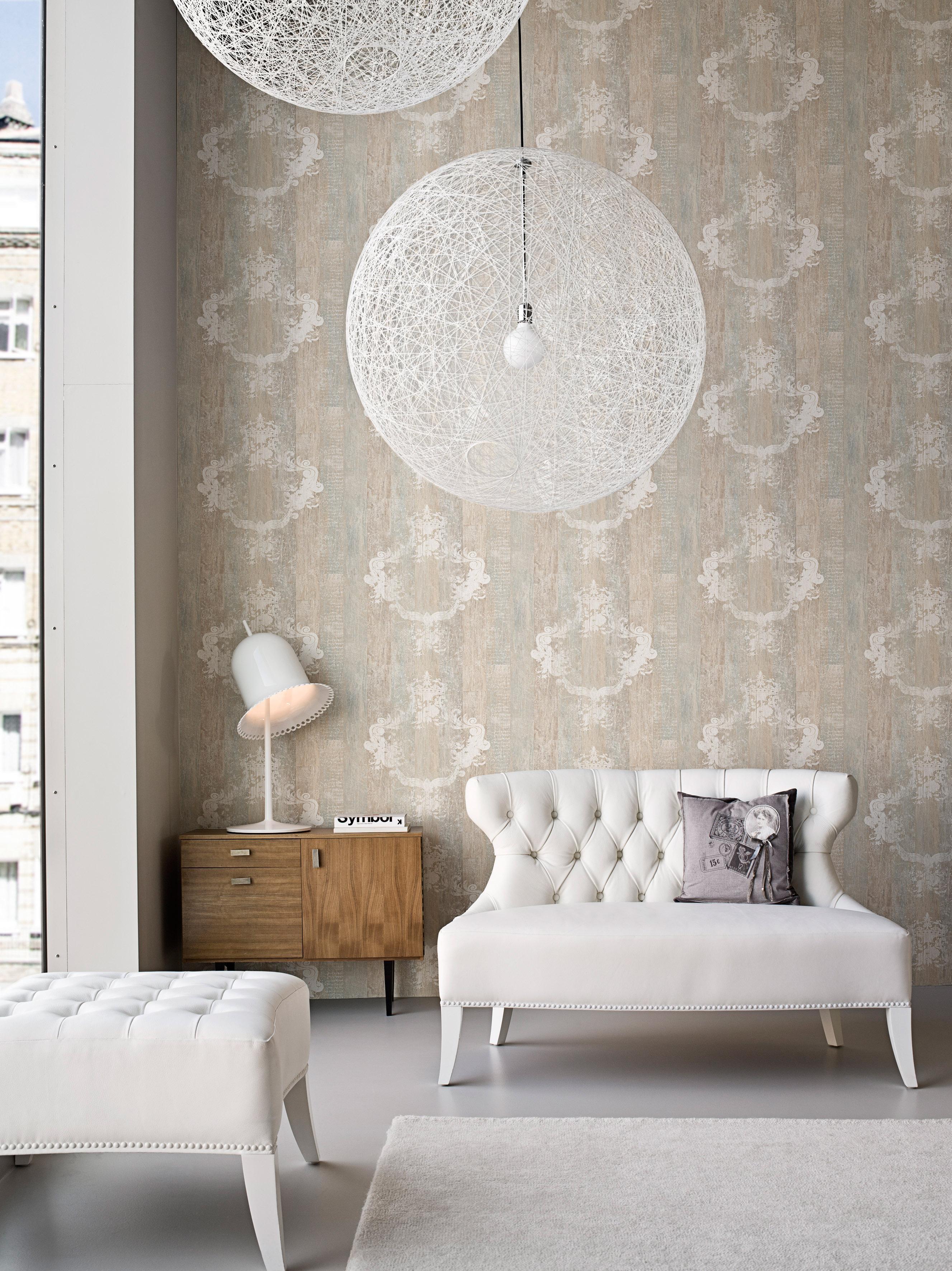 Beigefarbene Tapete • Bilder & Ideen • Couchstyle
