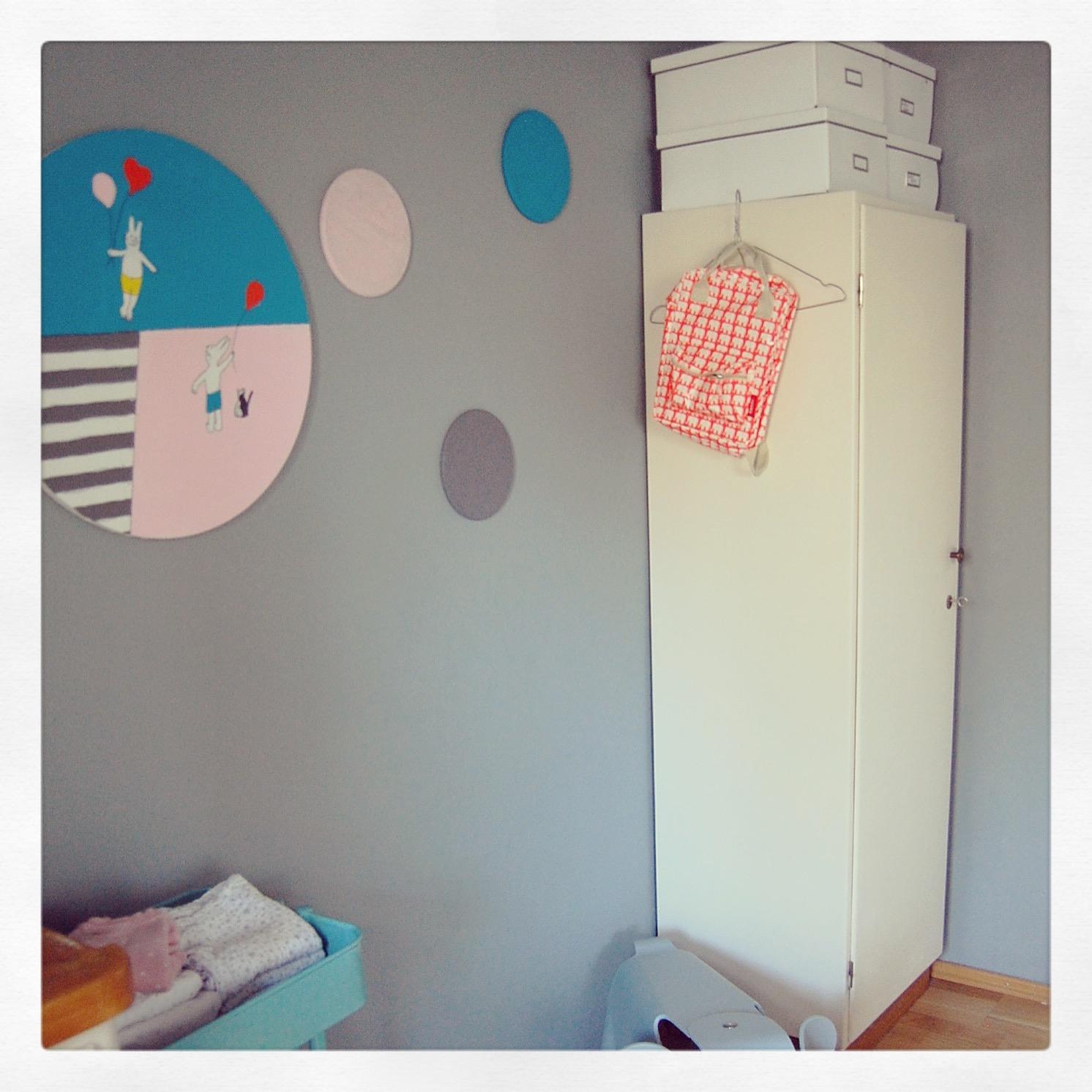 Farbenfroh Wandgestaltung Pastellfarbe Babyzimmer