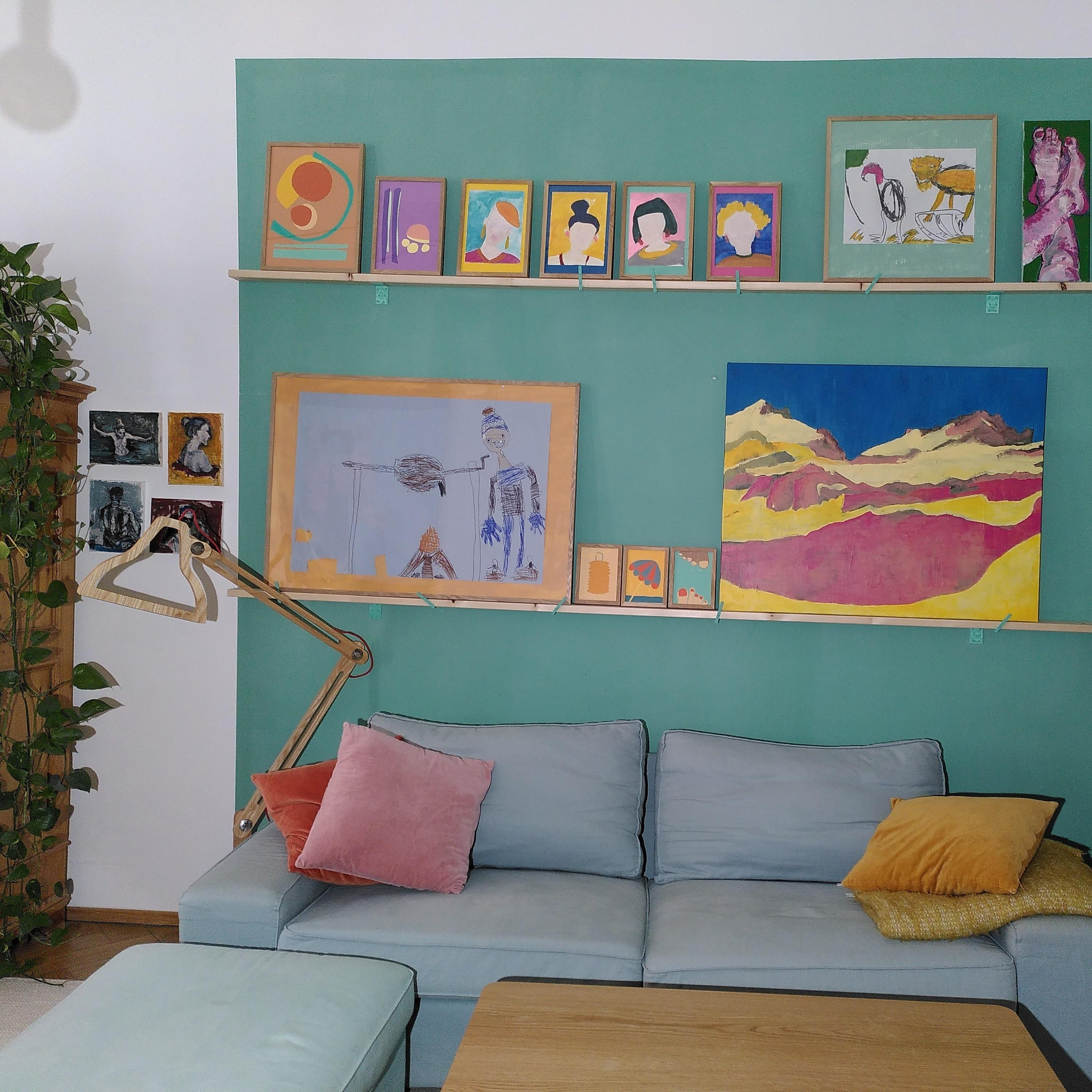 #Farbenliebe #Gallerywall #couch