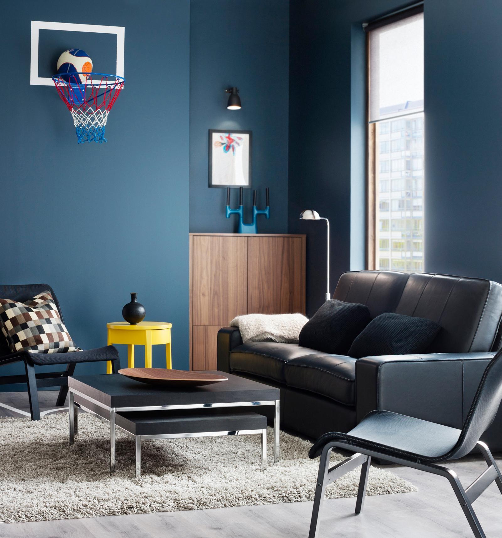 blaugraue wandfarbe bilder ideen couchstyle