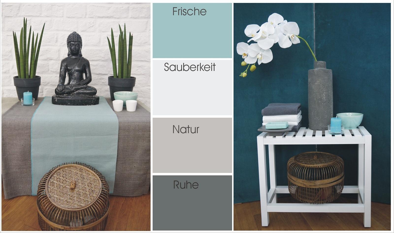 Farbkarte Türkis #wandgestaltung #türkisewandfarbe #grauewandfarbe ©Flohs  Einrichtungskonzepte