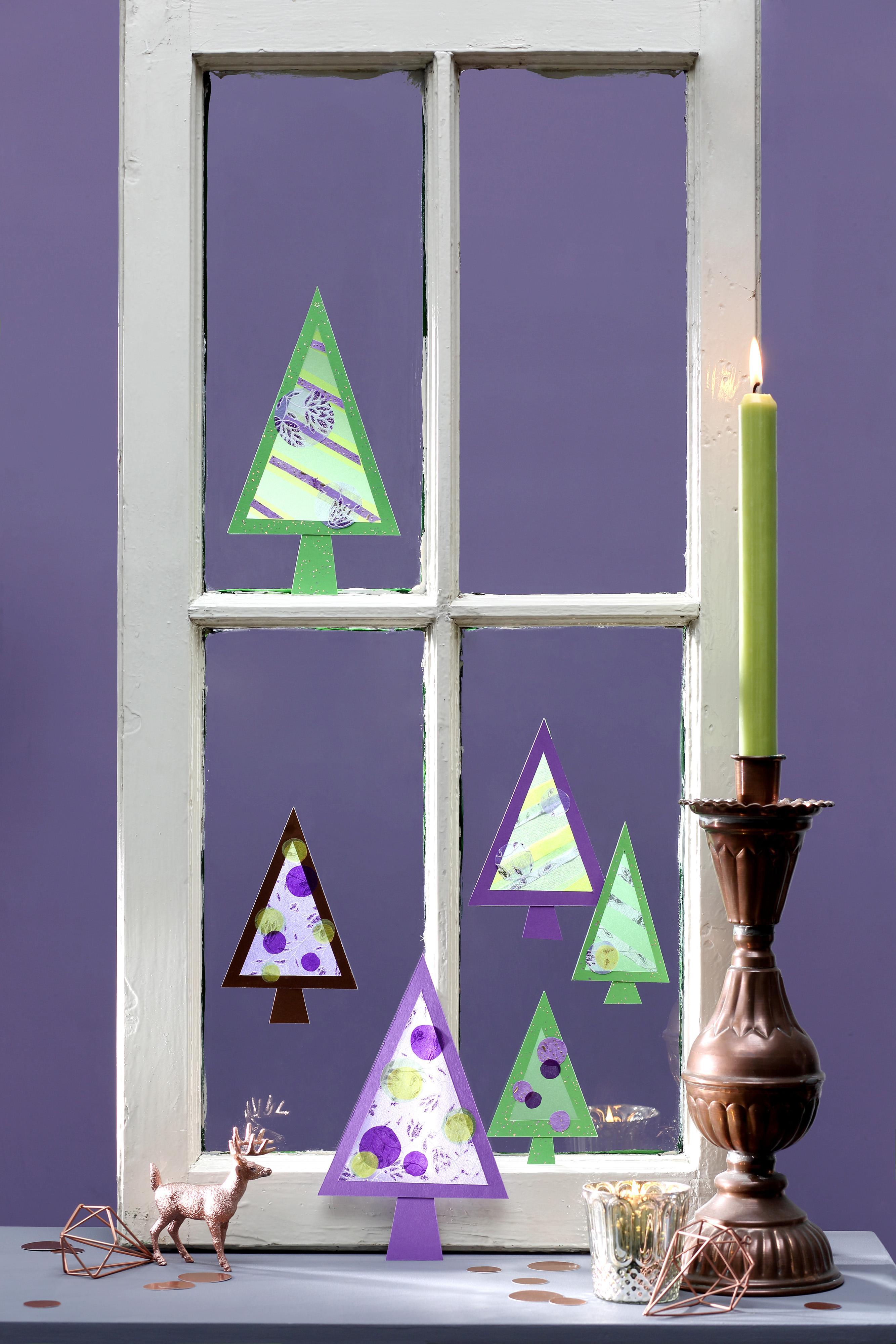 Fensterdeko Für Weihnachten Basteln Bastelidee Diy