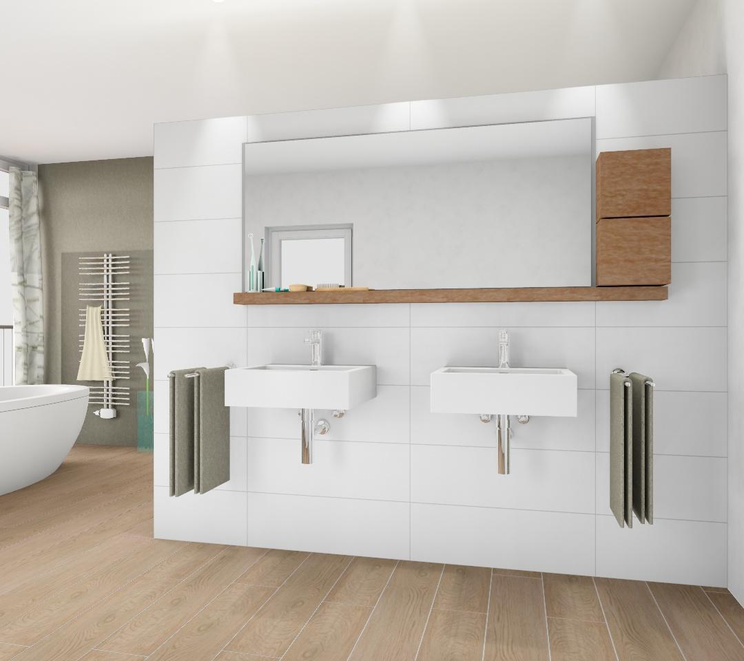 Fliesen in Holzoptik #fliesen #badezimmer #badidee ©...