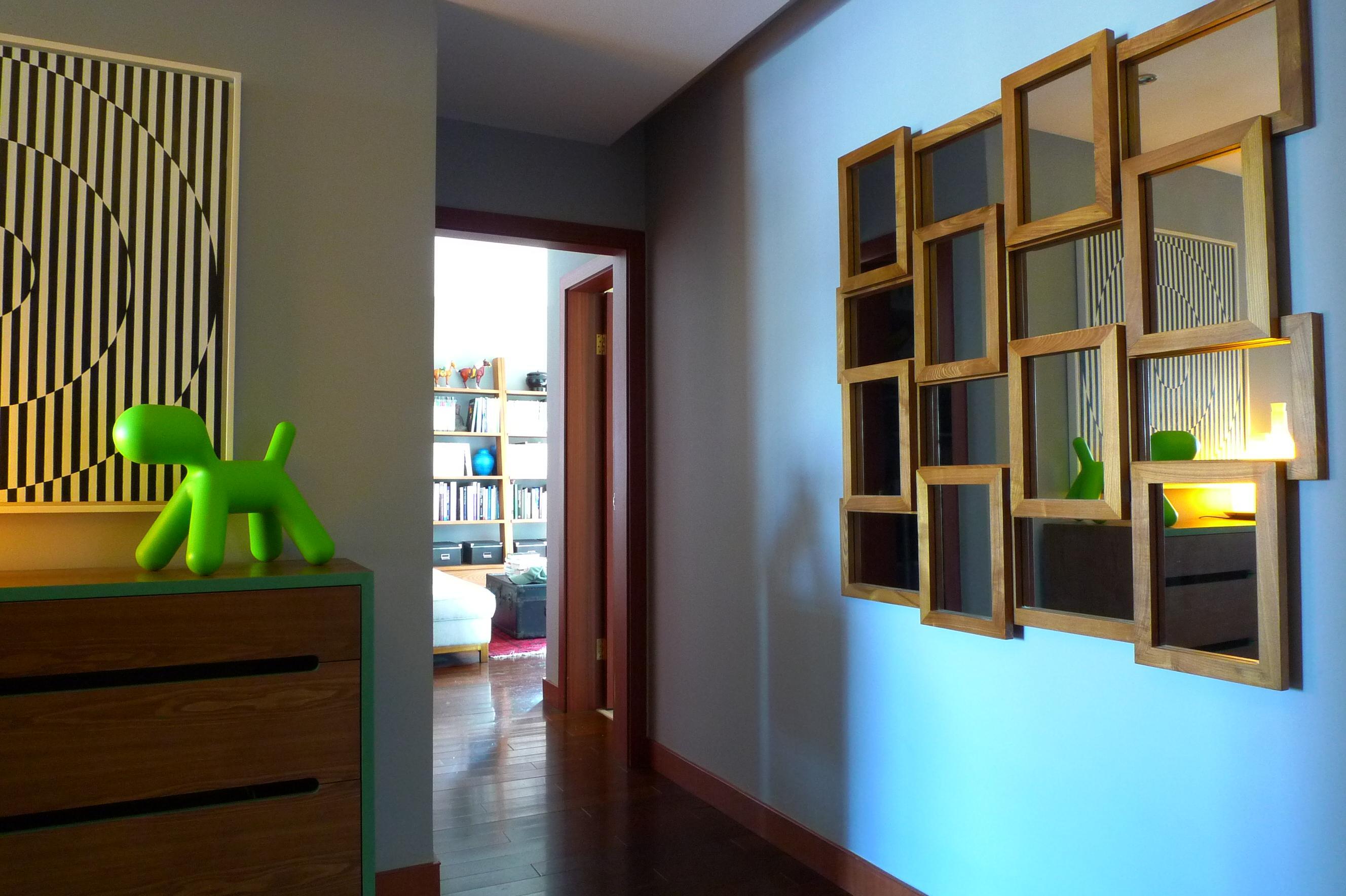 Flur Spiegel Wandgestaltung Kommode Wandspiegel