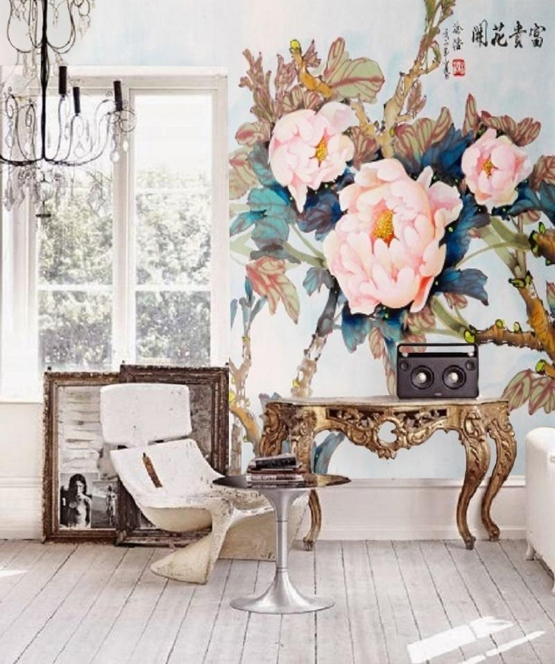 #fototapete#tapete#chinoiserie#painting#wall#blumen#large#floral#home