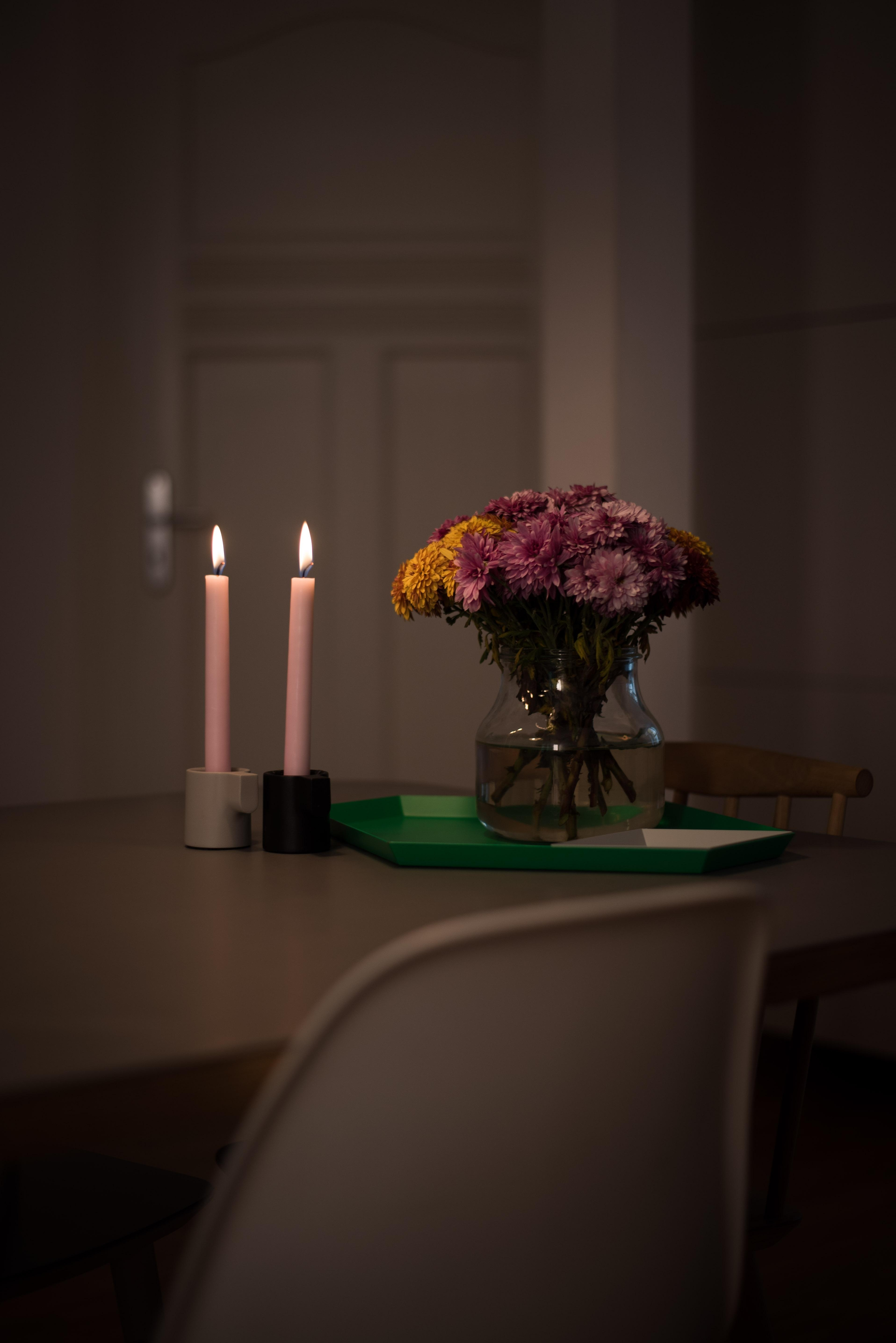Fridayflowers  candles freshflowers kitchentable interior  d3861a6d 2e09 4020 916d a324b53f95a6