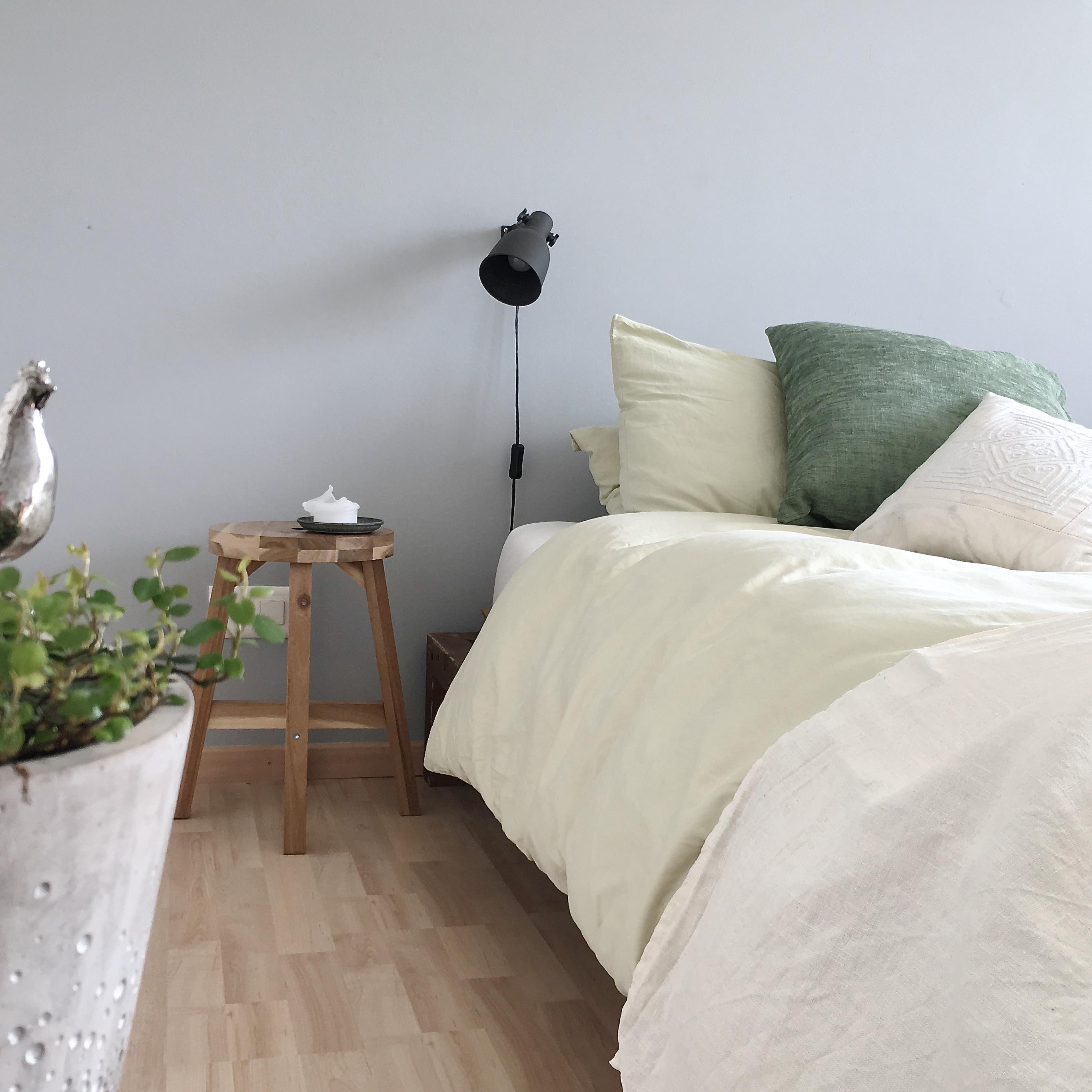 frühling #grün #schlafzimmer #bettwäsche # grau • C...