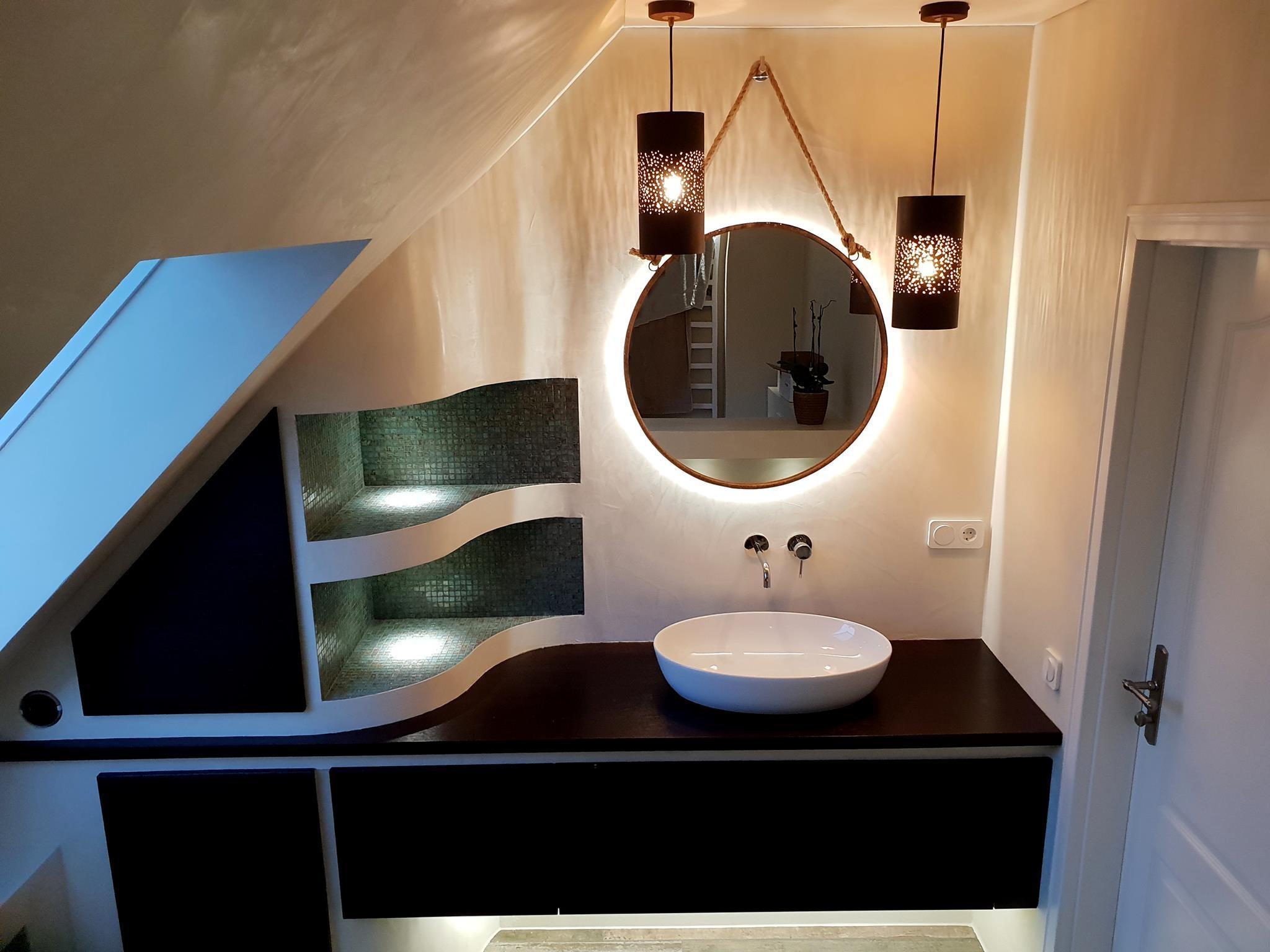 fugenlosesbad orientalisch badezimmerdesign bade...