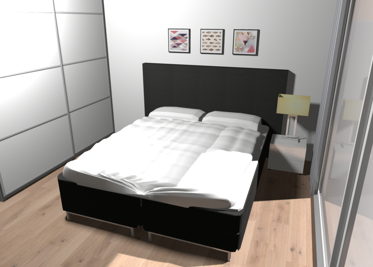 Funktionales Schlafzimmer #boxspringbett ©Fashion For Home