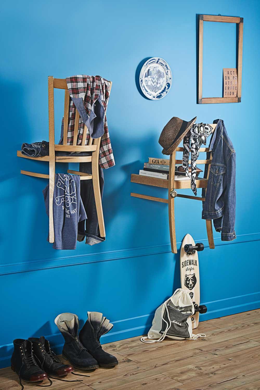 Garderobe Aus Alten Stühlen #diy #upcycling #diygarderobe ©Bosch