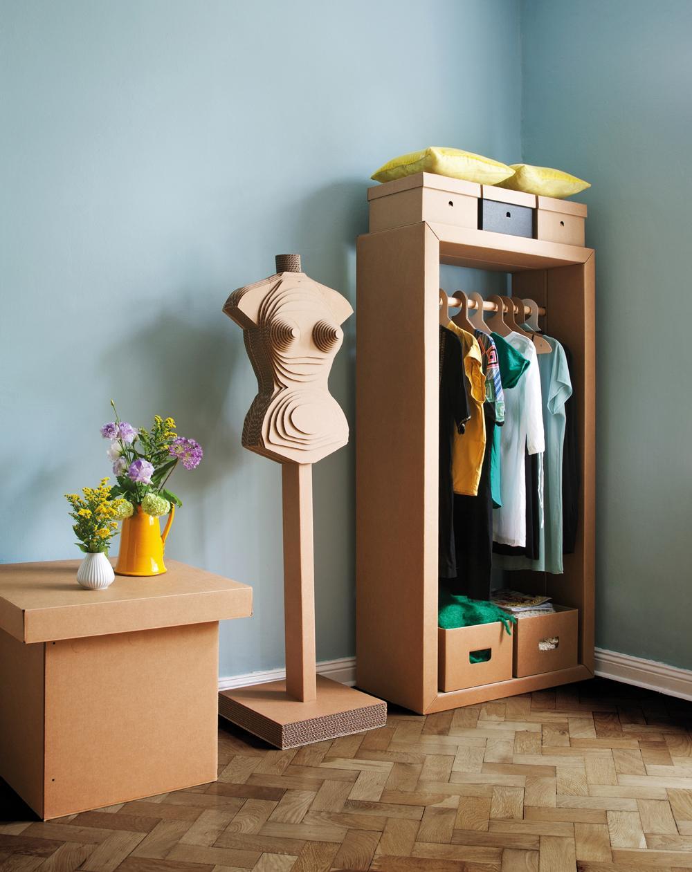 Garderobe Aus Pappe Aufbewahrung Schrank Garderob