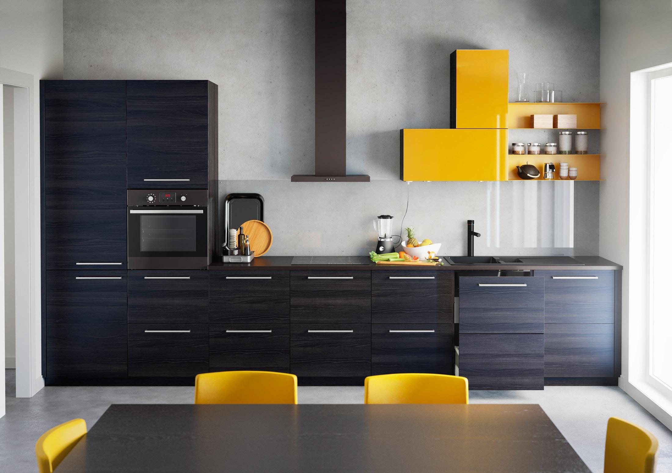Gelb Trifft Auf Schwarz Stuhl Kuche Ikea C Inter I