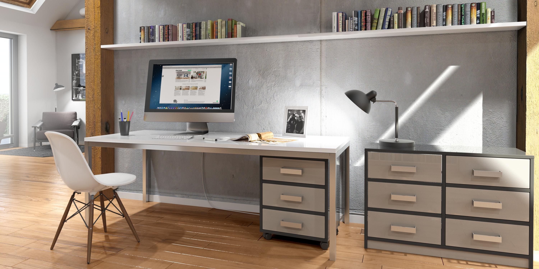 Fabelhaft Schreibtisch Kommode Dekoration Von Gemütliches Arbeitszimmer In Individuellem Design #regal #schreibtisch