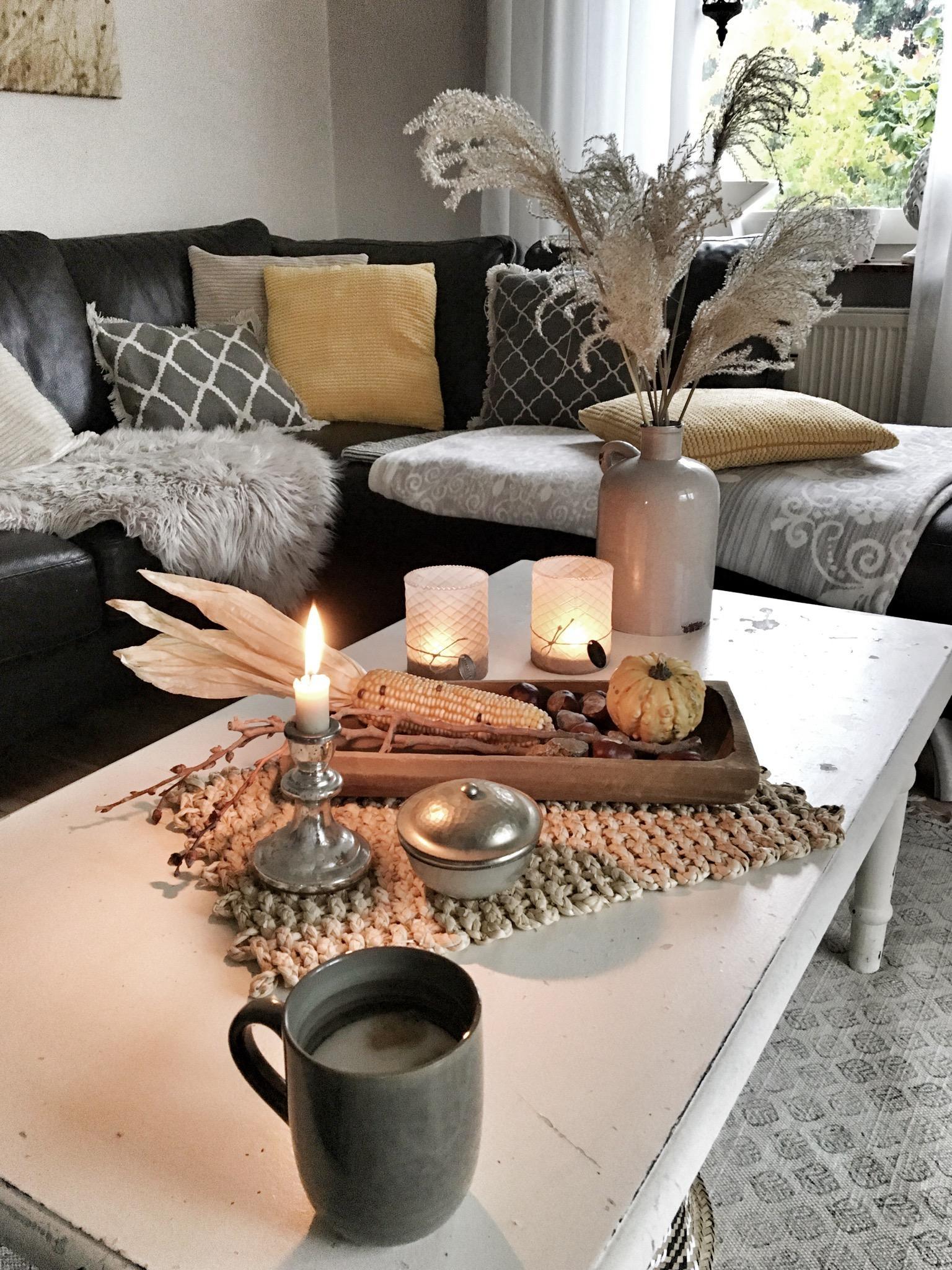Gemütlichkeit #cozy#hygge#kerzen#deko#autumn#wohnz..