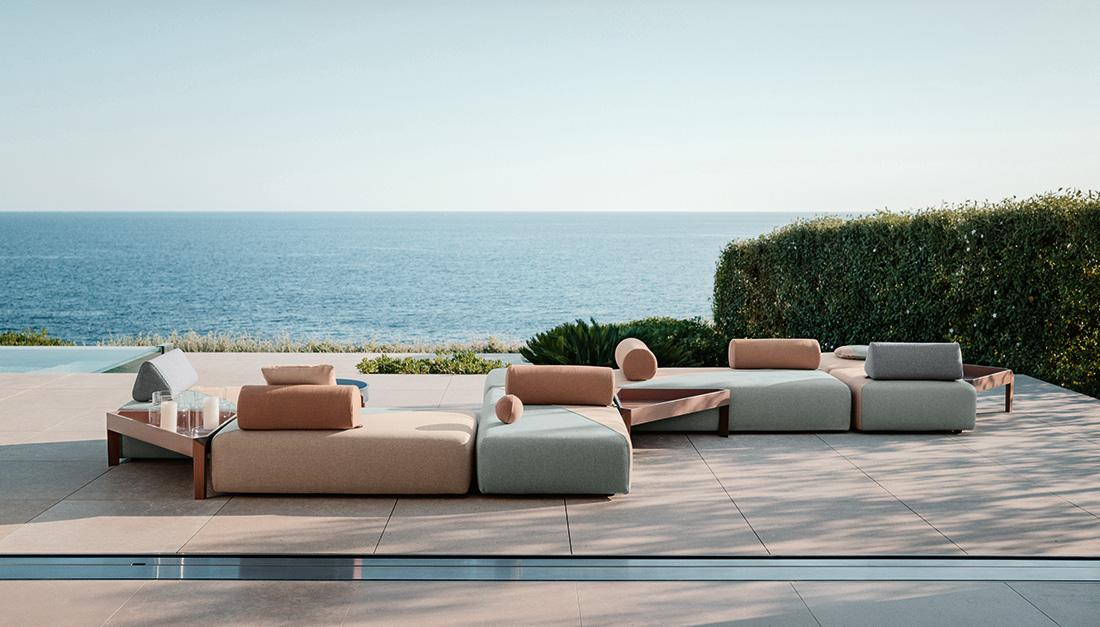 gepolsterte outdoor kollektion von dedon terrasse. Black Bedroom Furniture Sets. Home Design Ideas