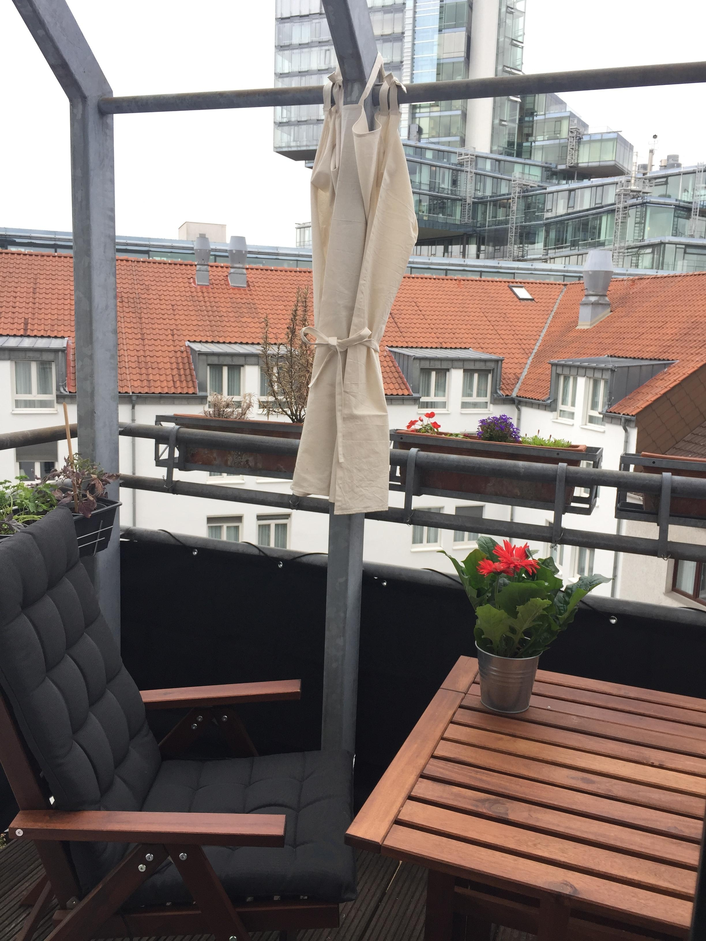 Geraffte Sonnengardine Sonnenschutz Balkon Minib