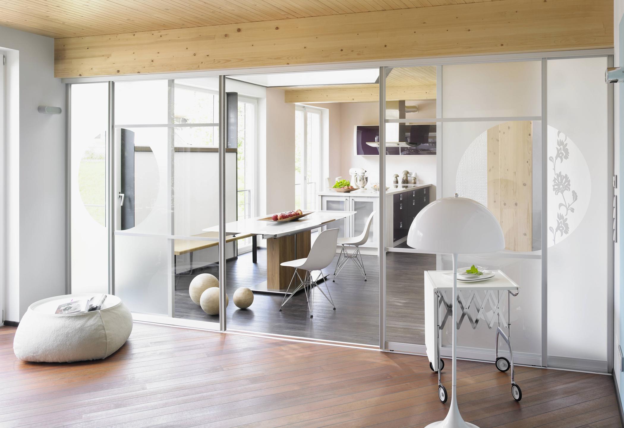 Genial Glaswand Wohnzimmer Beste Wahl Glastrennwand Im Wohn- Und Essbereich #glaswand ©