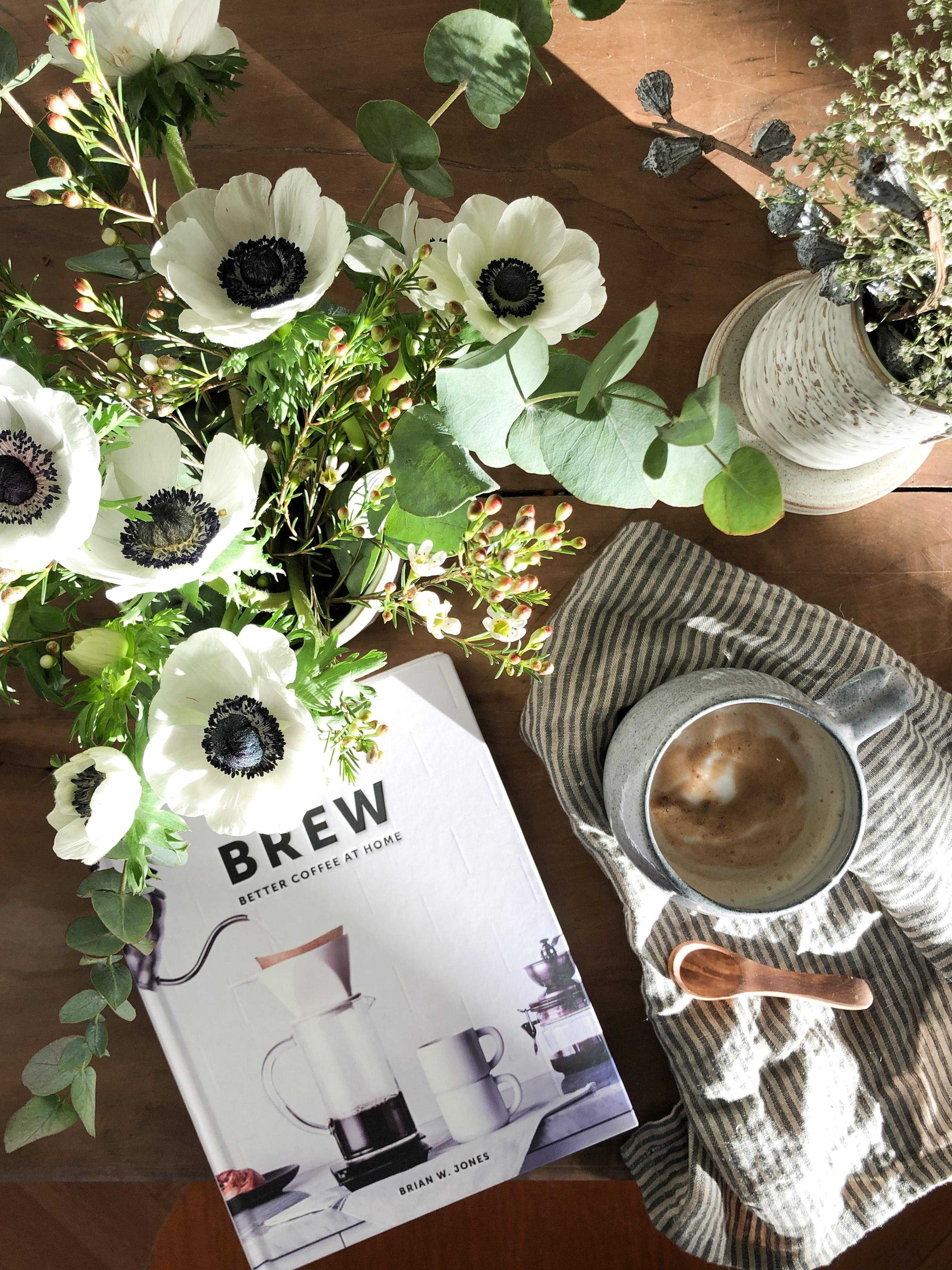 #goodmorning #coffee and #flowers
