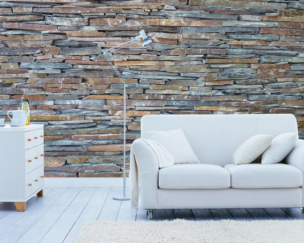Graphit Steinwand Fototapete Wandbild #küche #wohnzimmer #wandgestaltung  #loft #steinwand #designwand