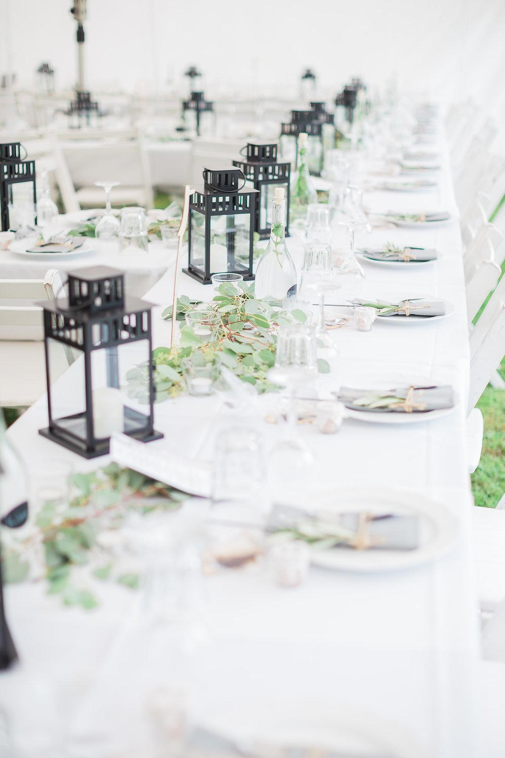 #greenery #wedding #green # black #candles #herbsthochzeit #grau #Grey #White #outdoor