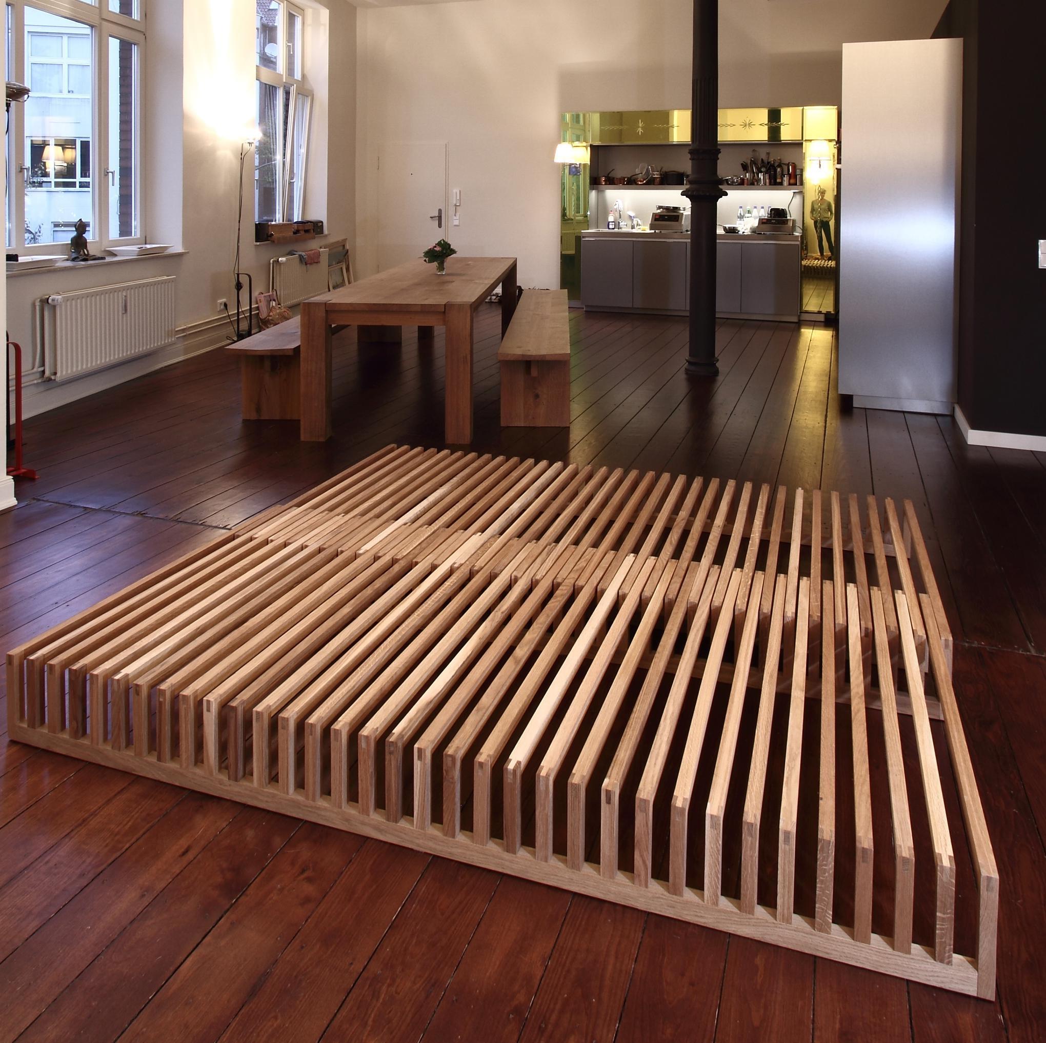 Bauen bett schwebend selber Holzbett 180x200