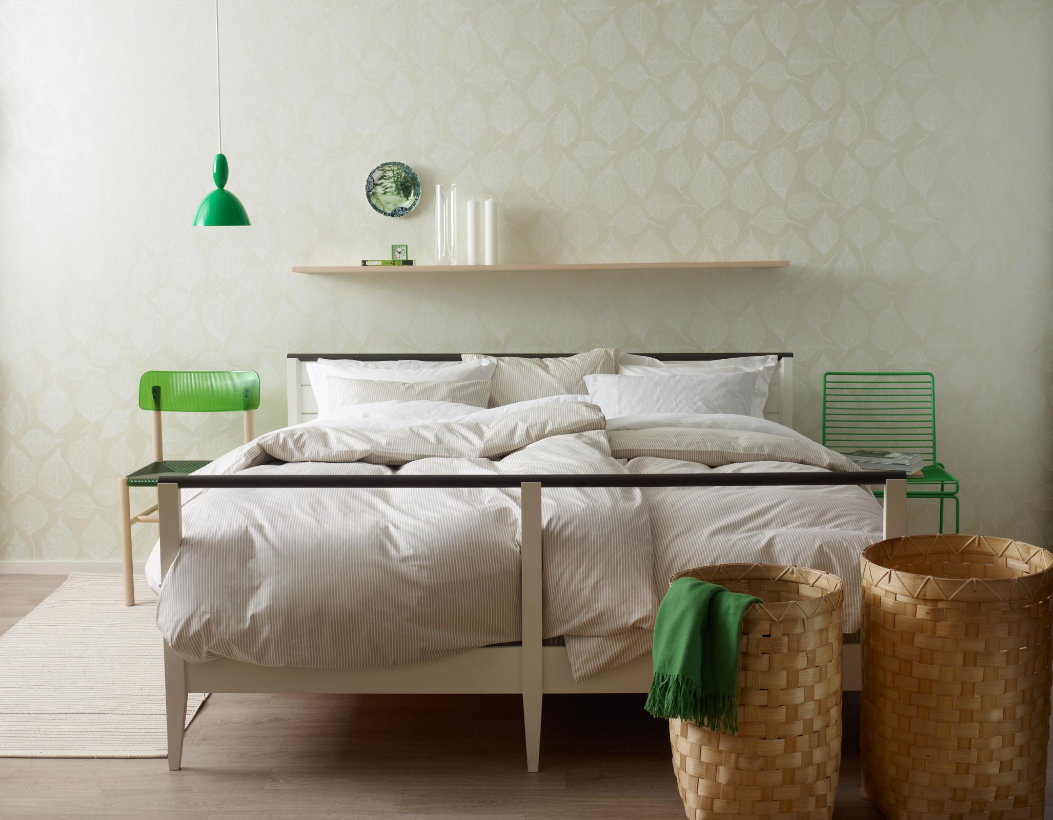 Grüne Wände Schlafzimmer Schlafzimmer Renovieren Farbgestaltung