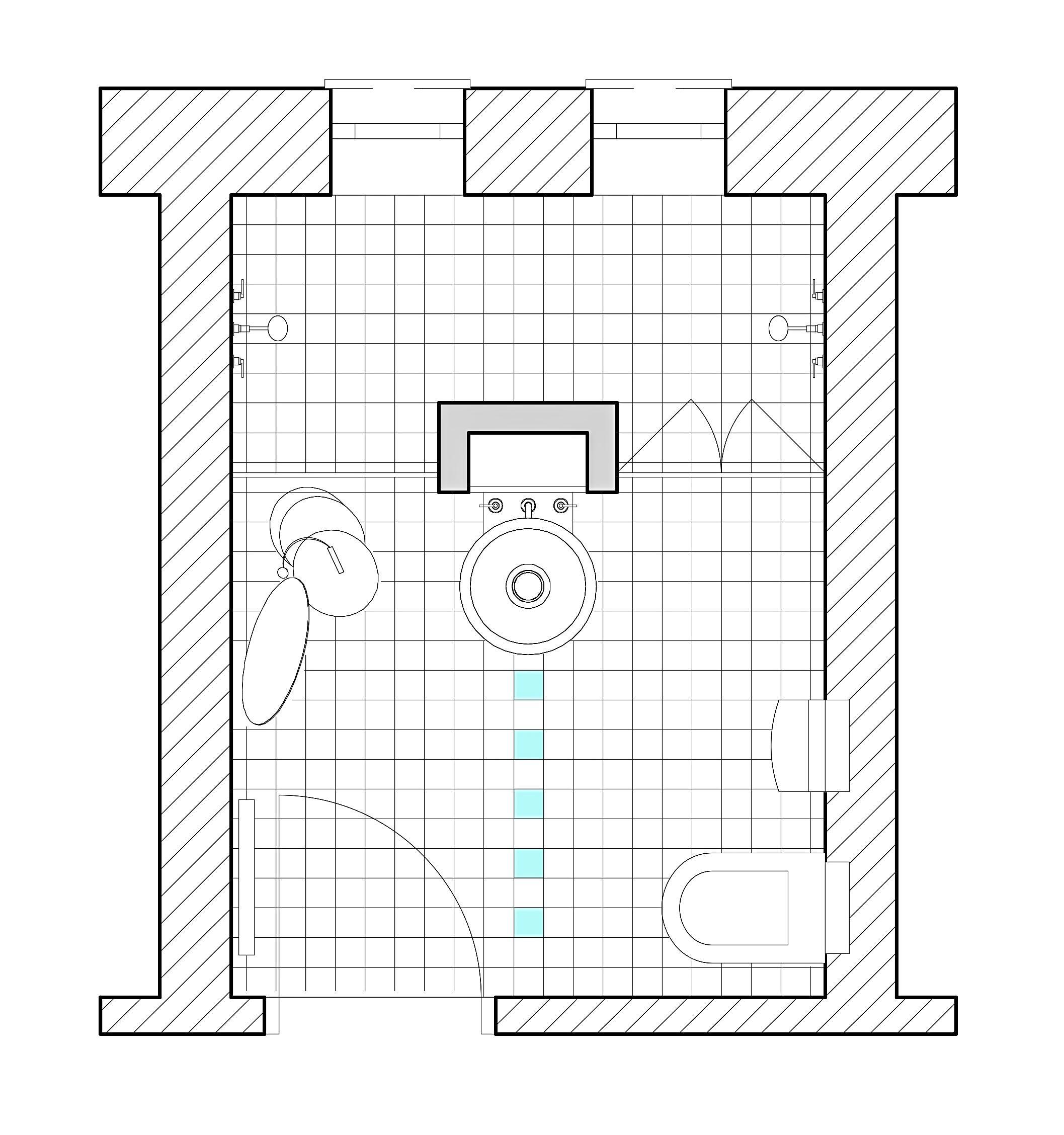 Badezimmer Grundriss • Bilder & Ideen • COUCH