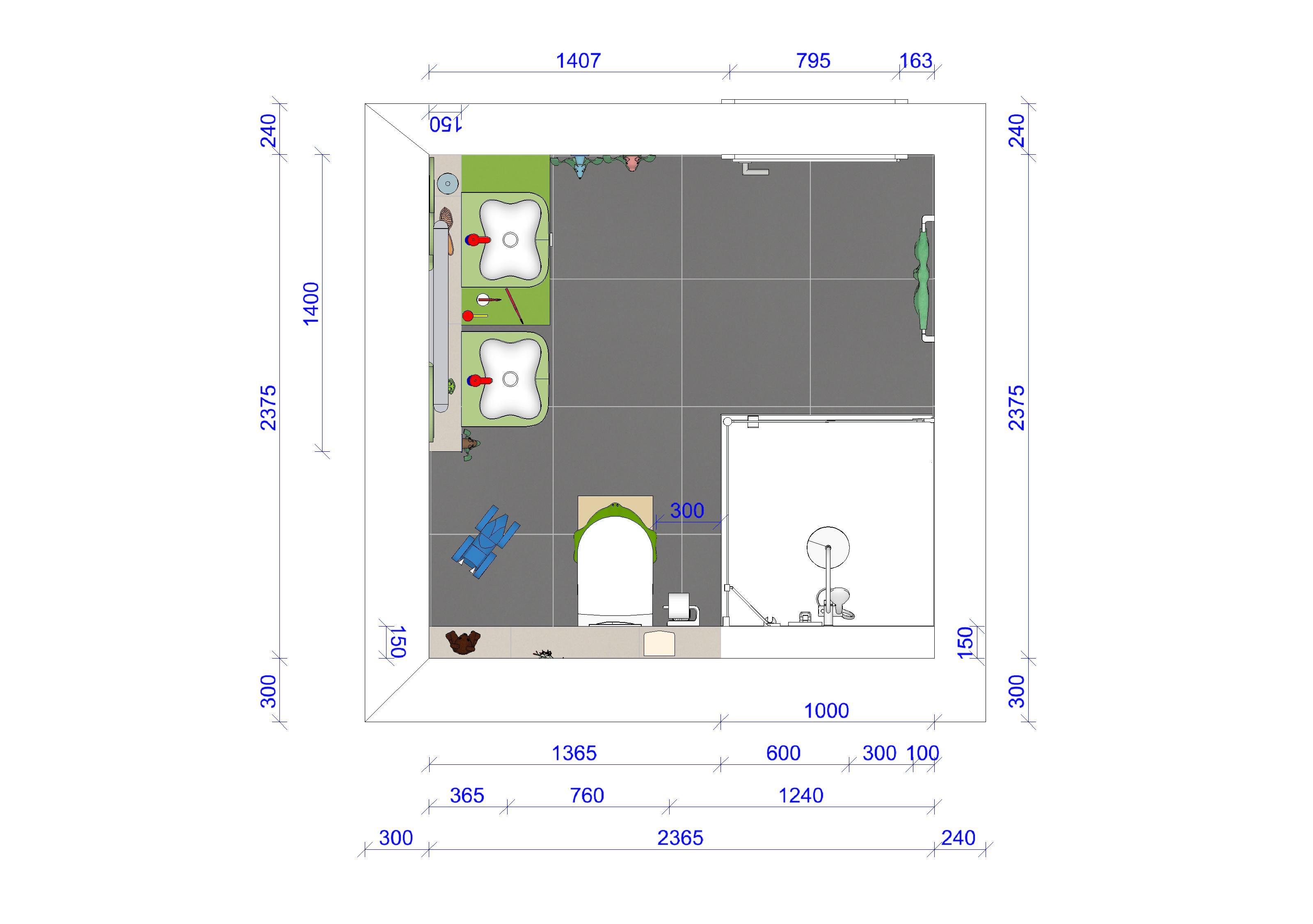 Grundriss Kinderbadezimmer #badezimmer #badezimmergrundriss  ©www.mlb Badplanung.de