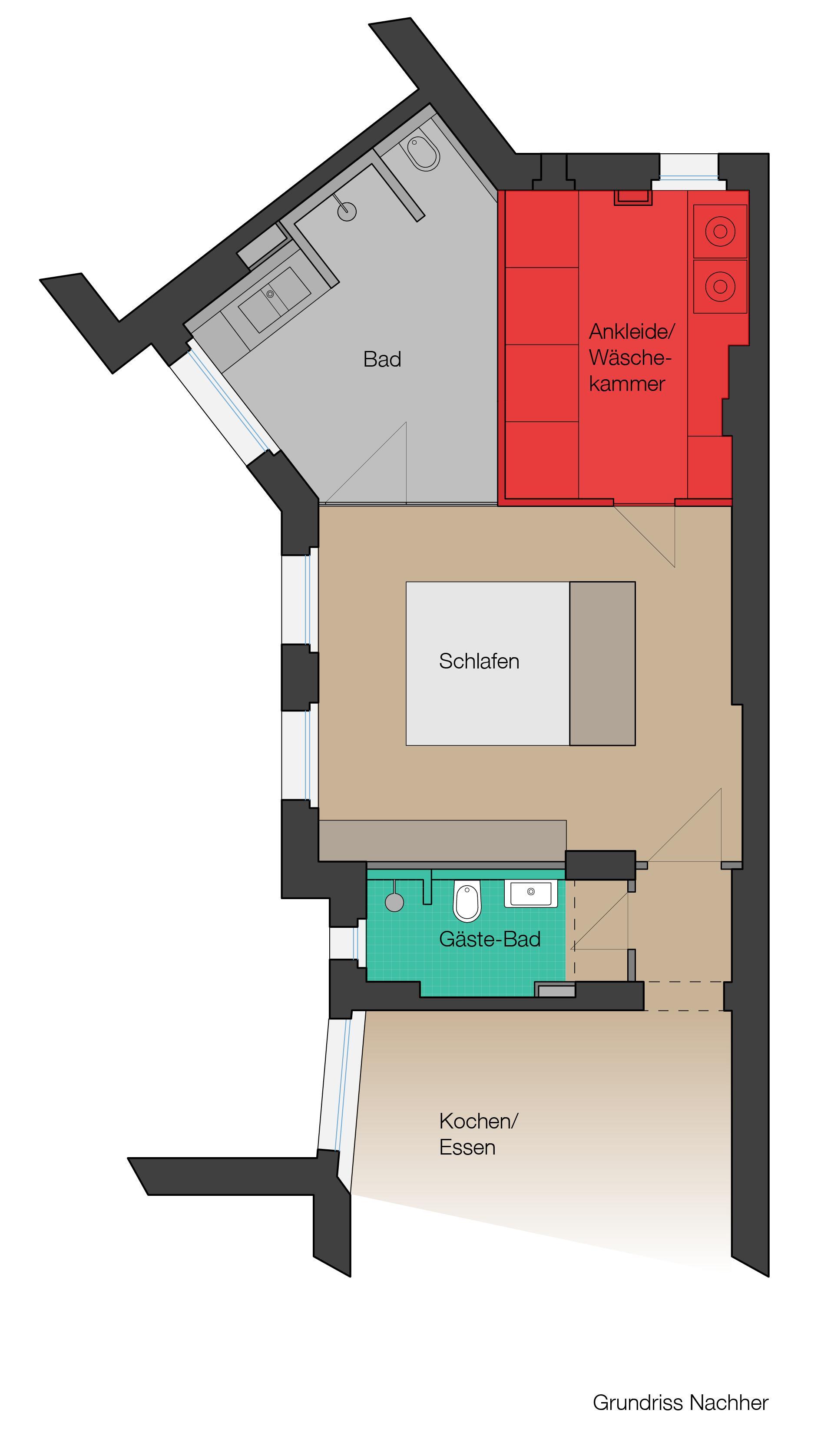 Grundriss Neu #offenesbadezimmer #ankleidezimmer ©MEYLENSTEIN