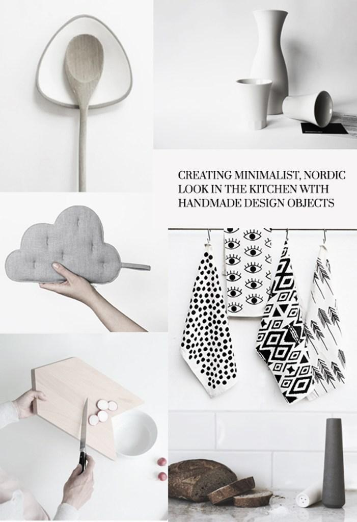 HANDGEMACHTES MINIMALISMUS FÜR DIE KÜCHE #küche ©http://www.designsetter.de/creating-minimalist-nordic-look-in-the-kitchen-with-handmade-design-objects/