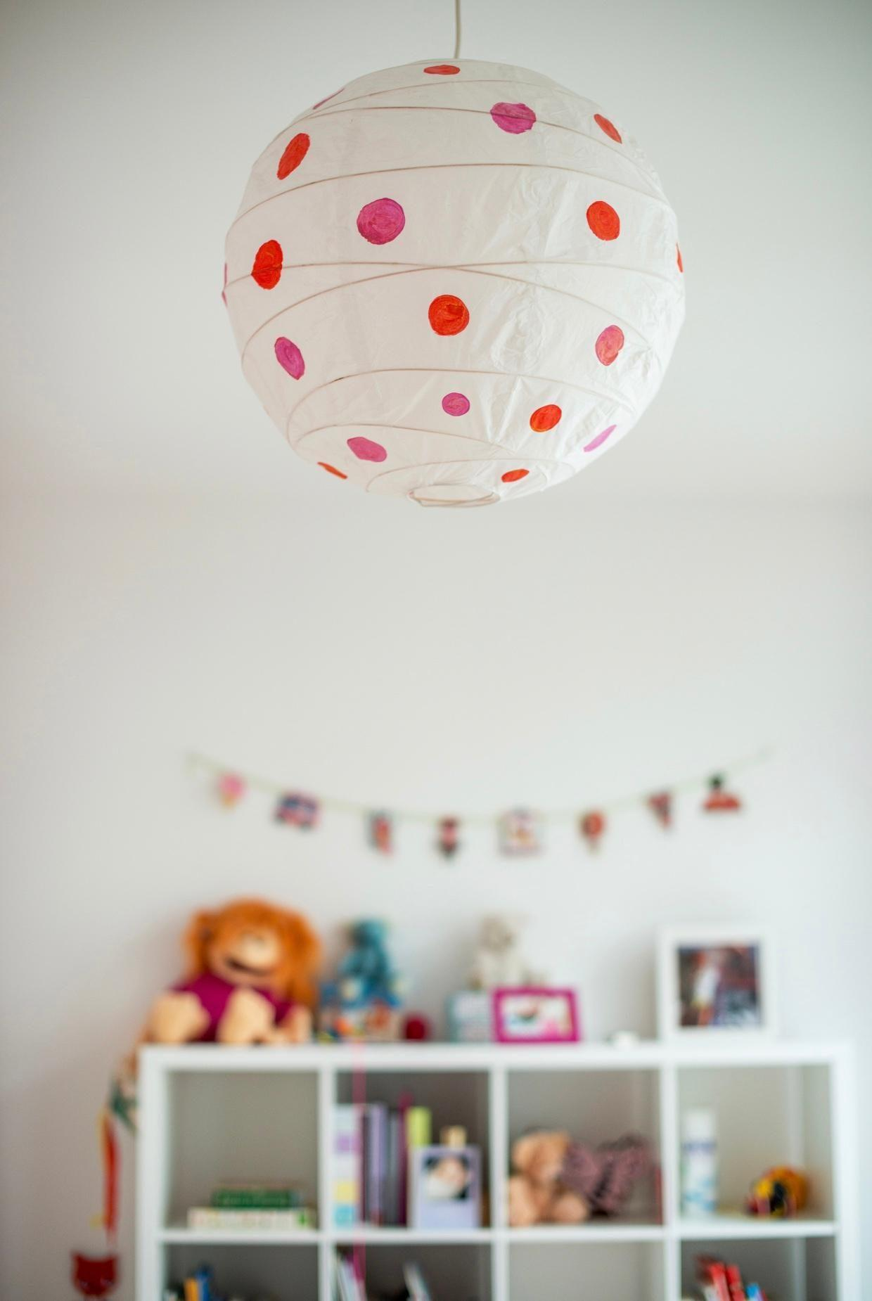 Happy Dots Kinderzimmer Lampe Diy Madchenzimm