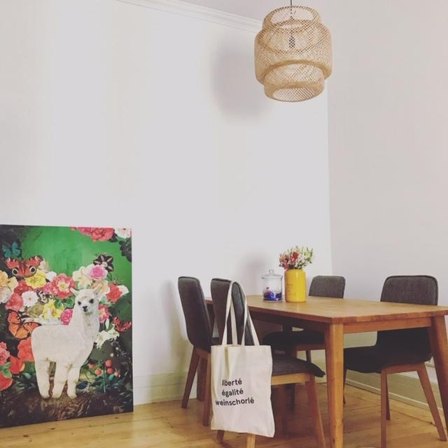 Happy monday! ☀️ #table #tisch #esstisch #wooden #holzliebe #picture #flowers #colors