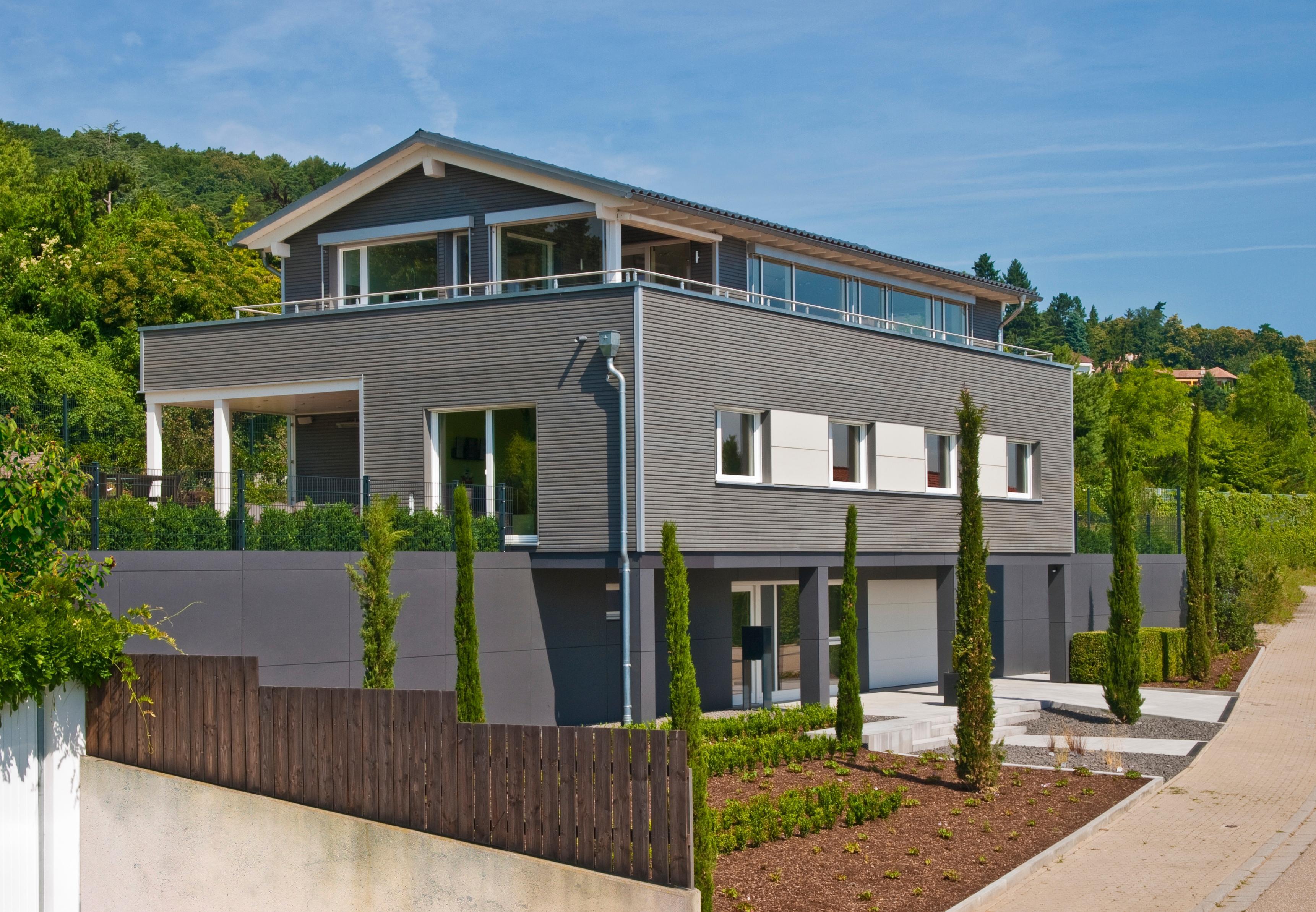 Haus Schwaab Dachterrasse Satteldach Garage C Bauf