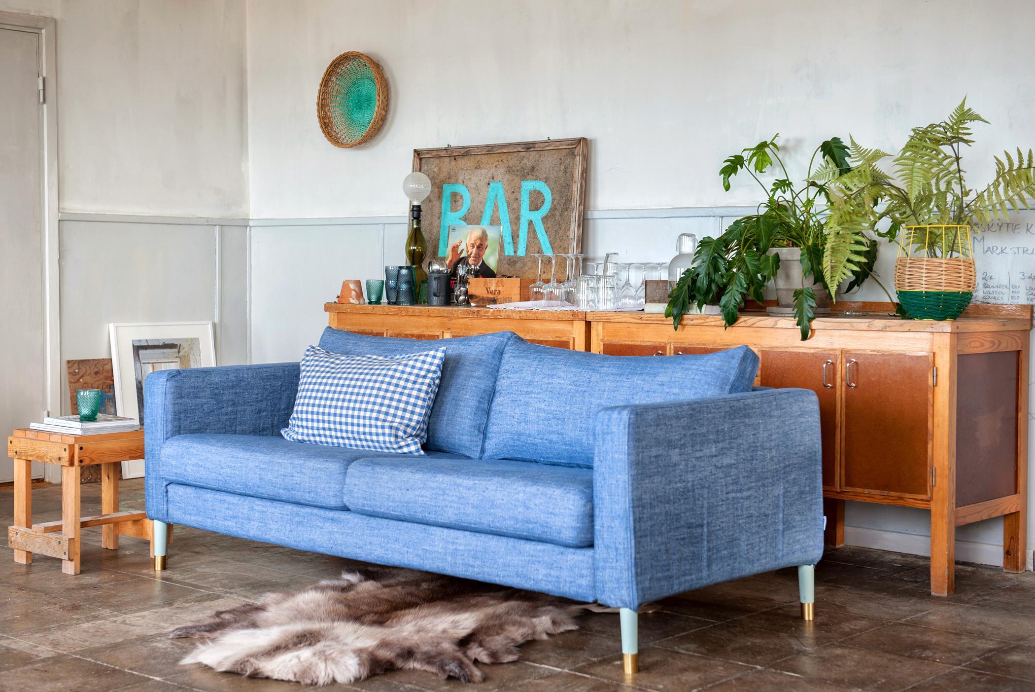 Bevorzugt Hellblaues Sofa mit feiner Struktur #sofa ©Bemz • COUCH EU06