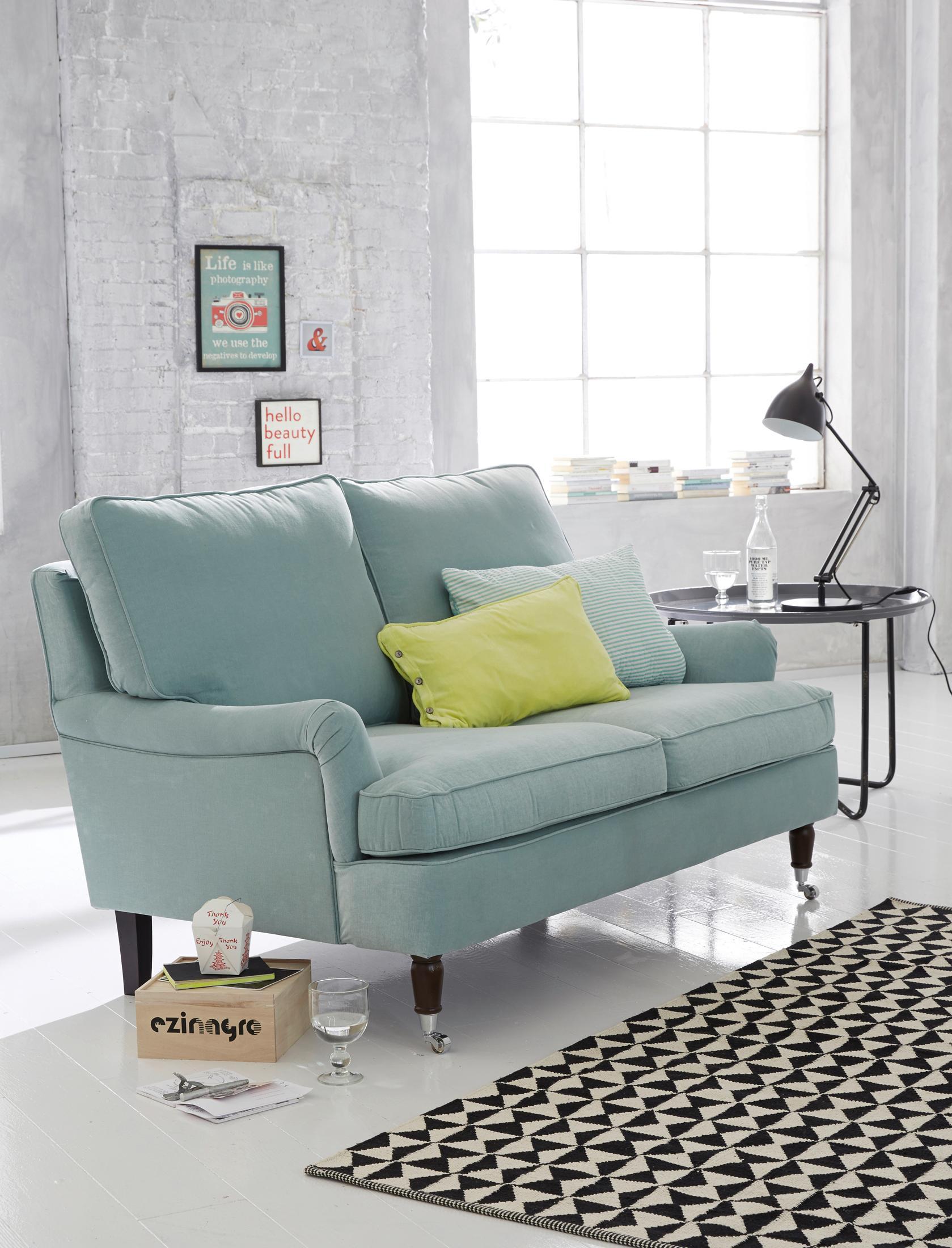 Hellblaues Sofa #sofa #blauessofa ©Car Möbel • COUCH...