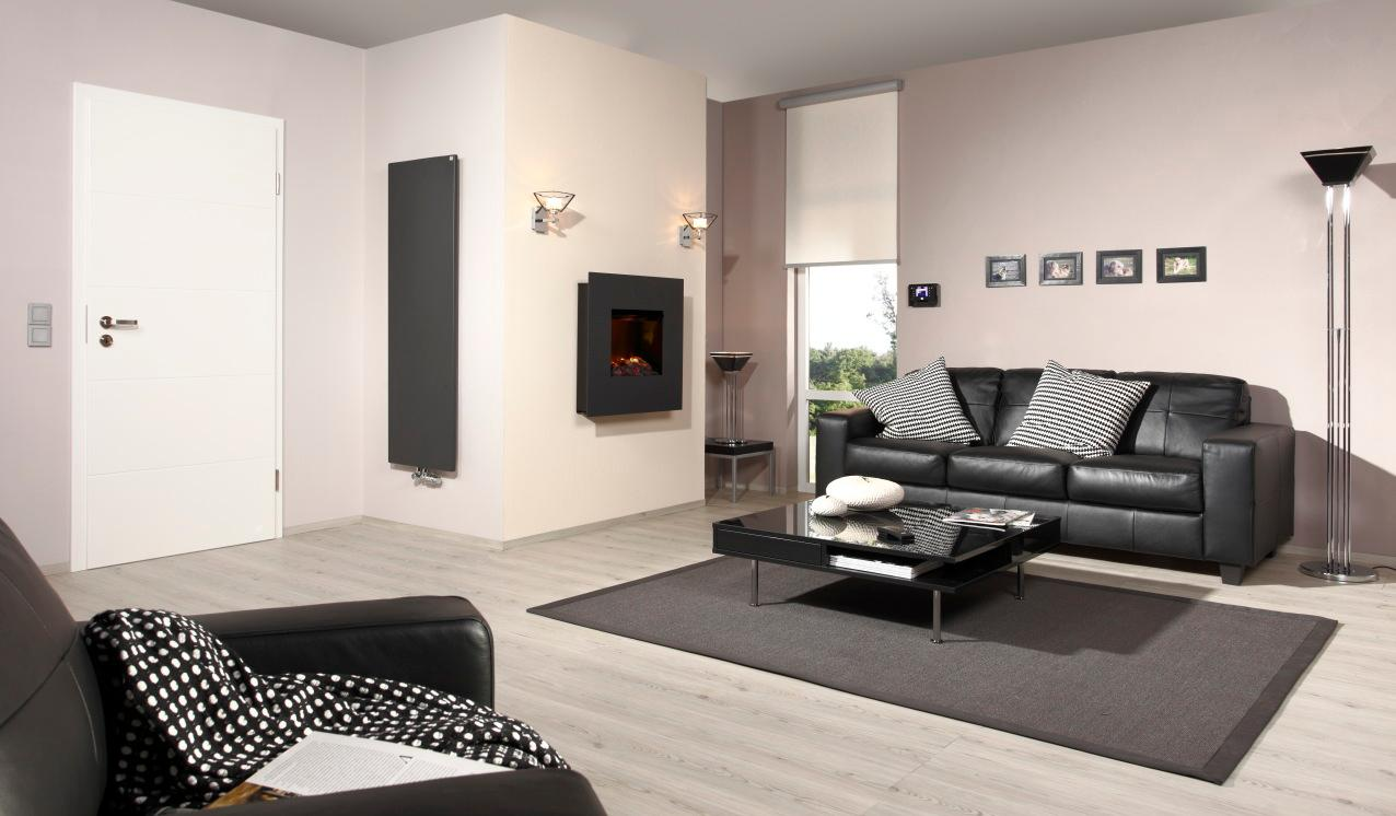 schwarzes ledersofa bilder ideen couch. Black Bedroom Furniture Sets. Home Design Ideas