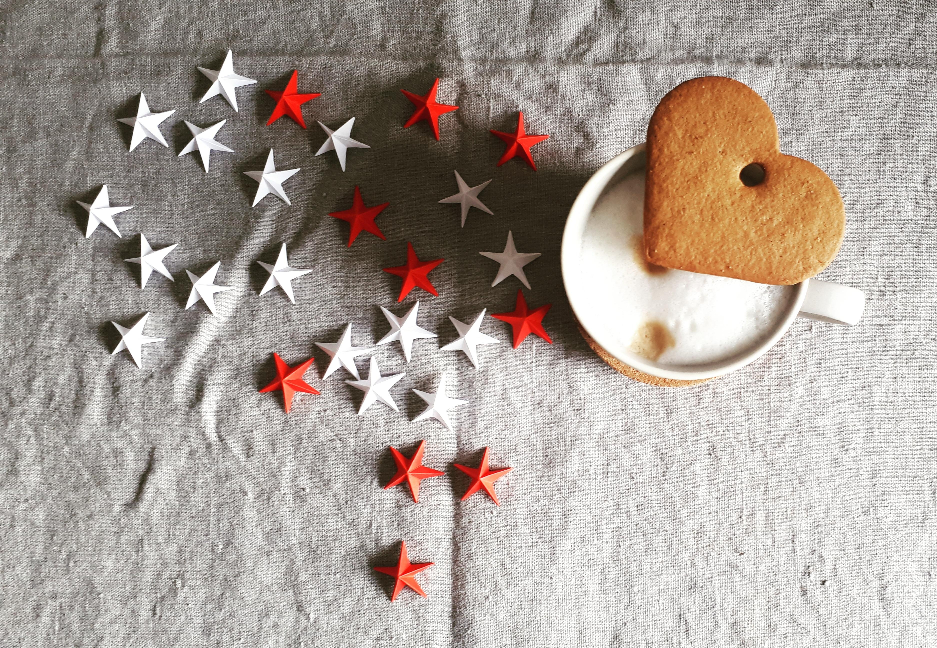 Weihnachtsdeko Papiersterne.Hello Coffee Lovers Coffee Kaffee Weihnachtsdeko
