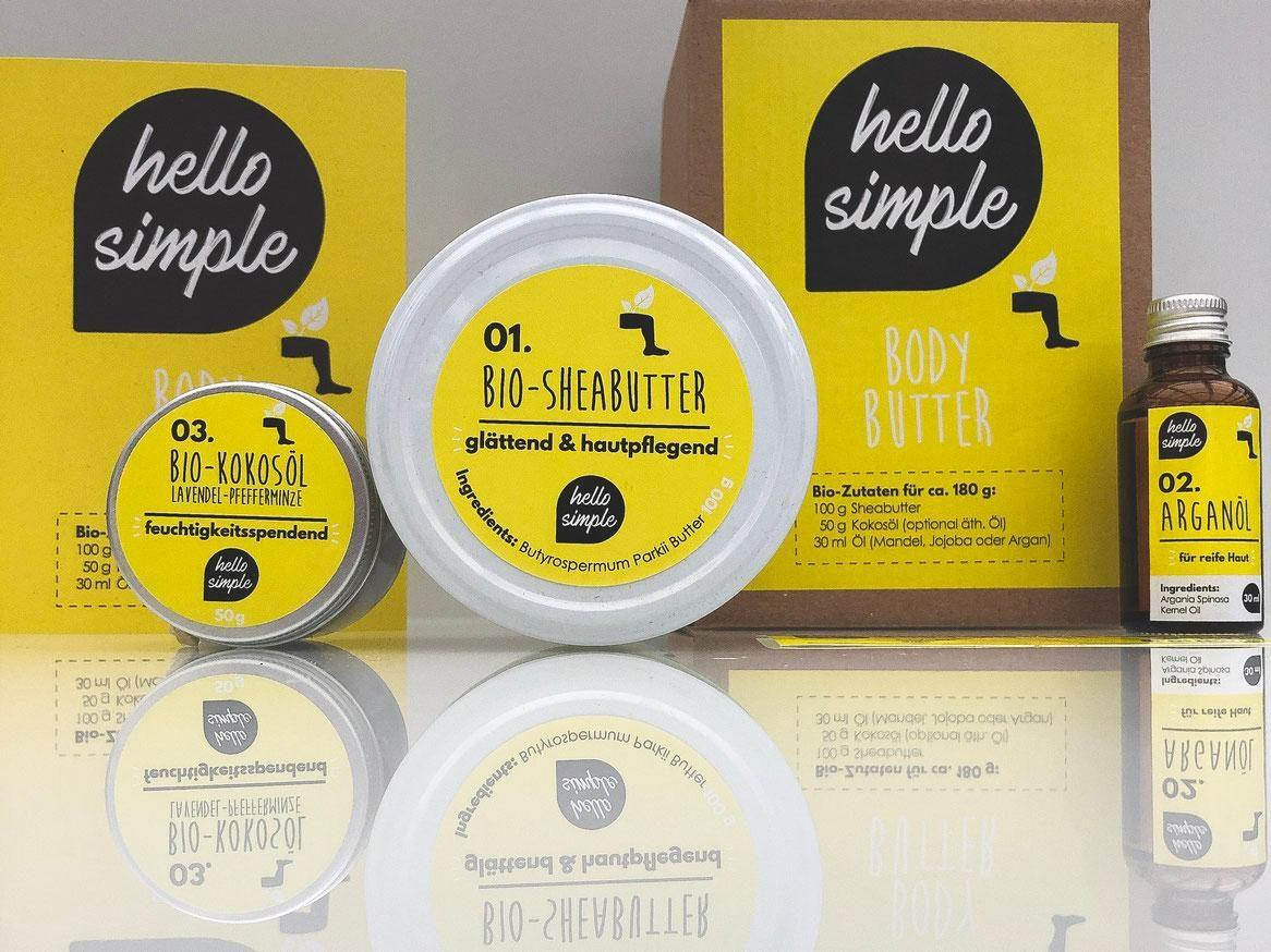 Hello Simple selfmade Bodybutter #DIYbeauty #DIYweek #hellosimple