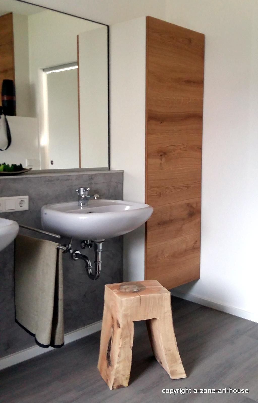 Holz Im Bad   Eiche Stauraumschrank Hängend #holzmöbel #badezimmer  #badmöbel ©Schreinerei Eder