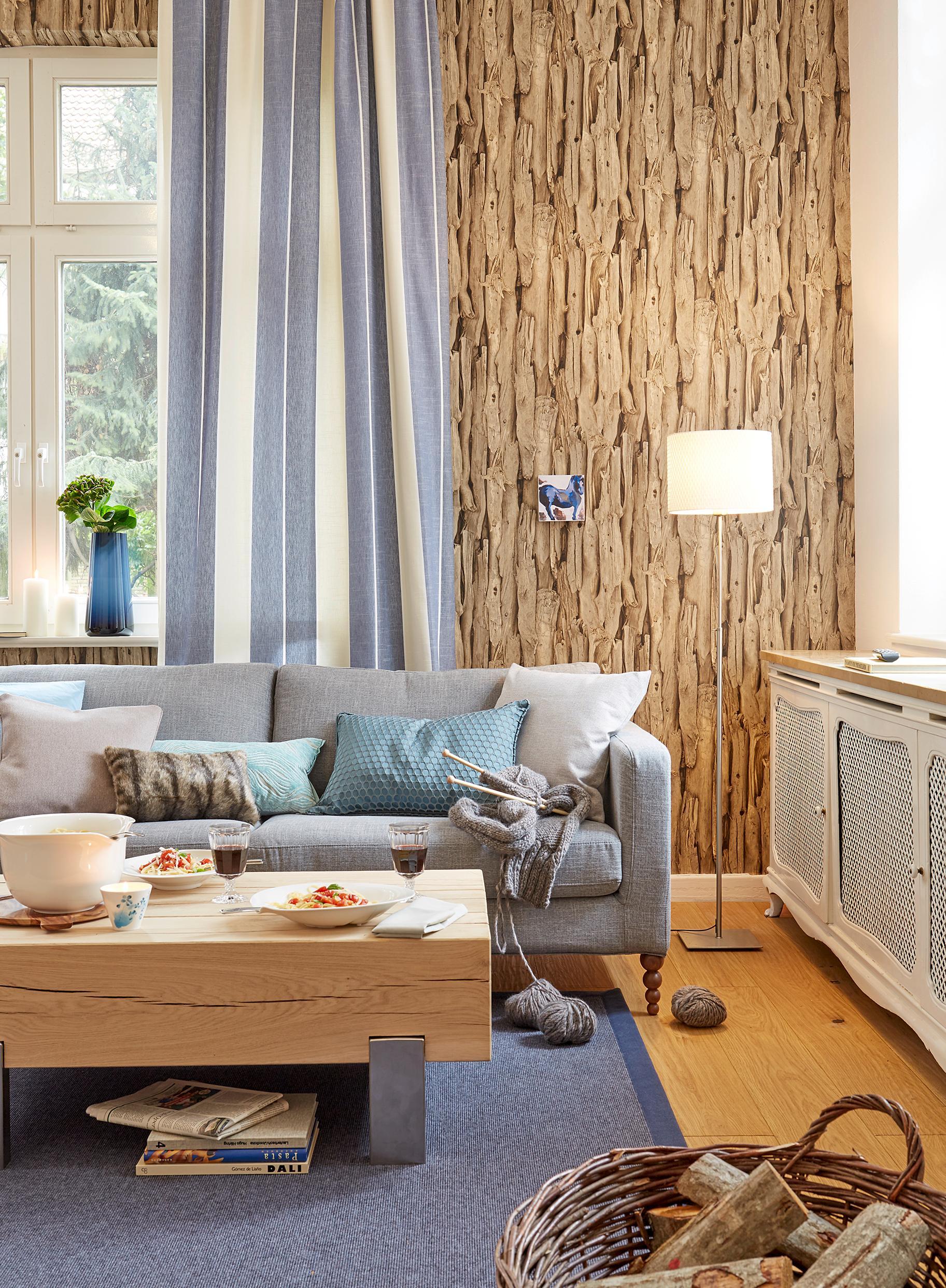 Holz Im Wohnzimmer Kissen Ikea Zimmergestaltung CSaustark Design GmbH