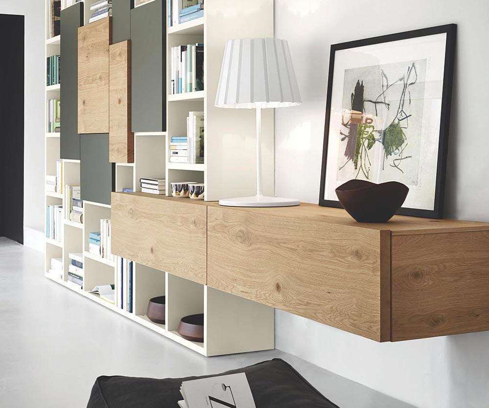 Holz TV Möbel Aus Eiche Braun #lowboard #tvmöbel #tvboard ©Livarea.de
