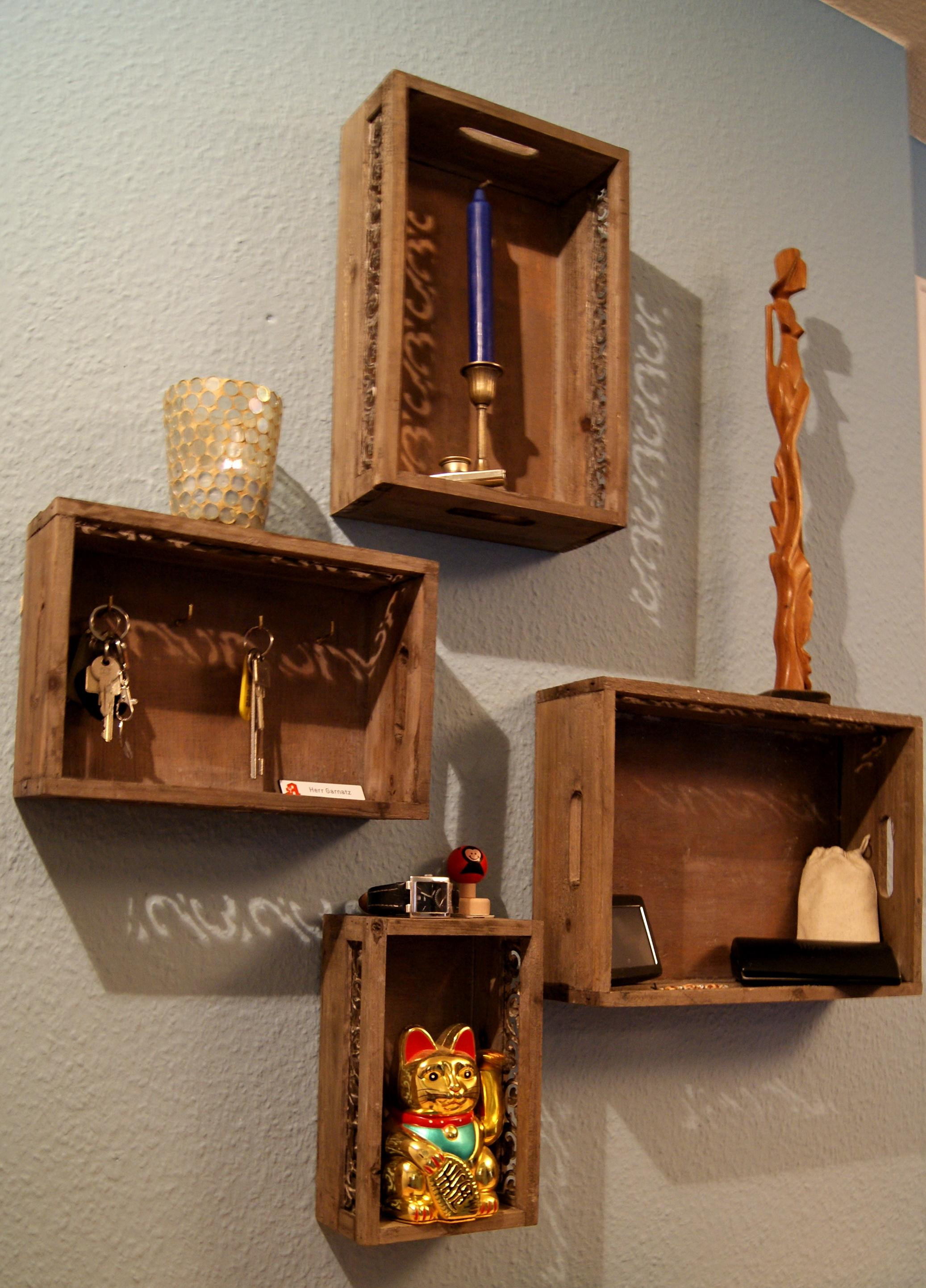 Holzkästen DiY Regale #regal #diy ©artenstein