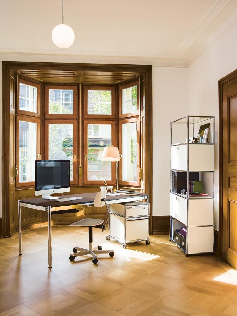 Home Office im Erker #büro #büromöbel #regal #schrei...