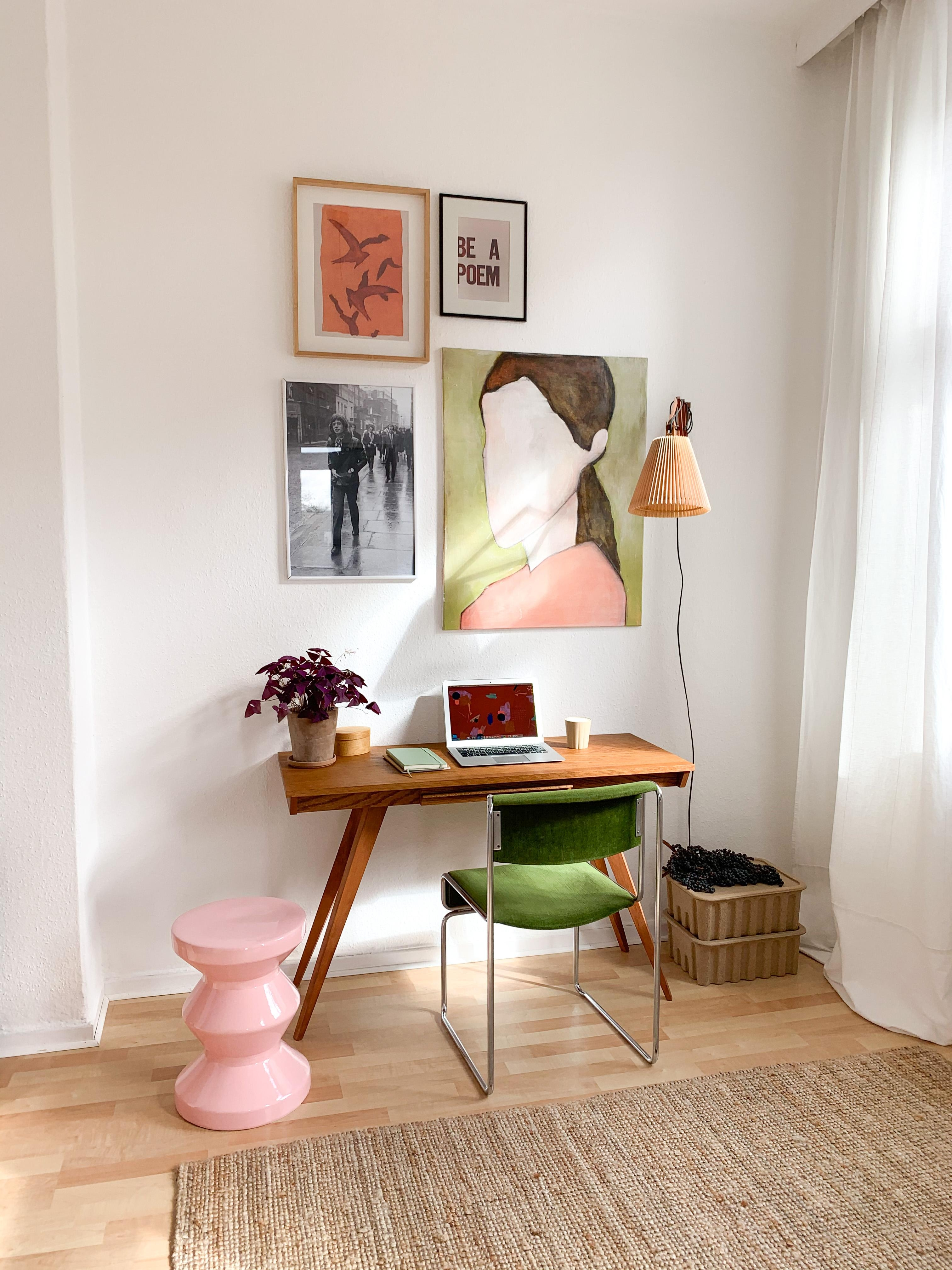 #homeoffice #workfromhome #office #schreibtisch #gallerywall #colorfulhome #colourfulhome #altbau #büro